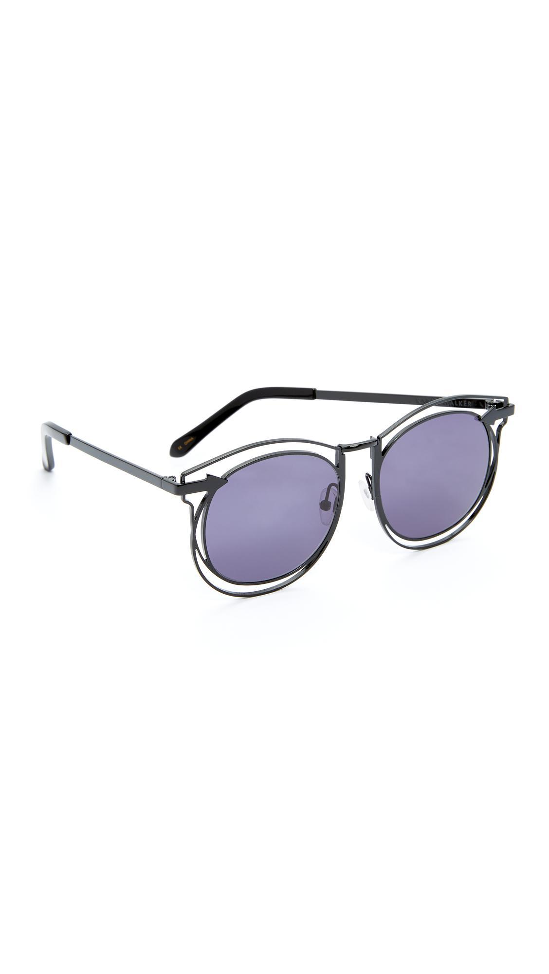 f150bfe319e Karen Walker Superstars Simone Sunglasses in Black - Lyst