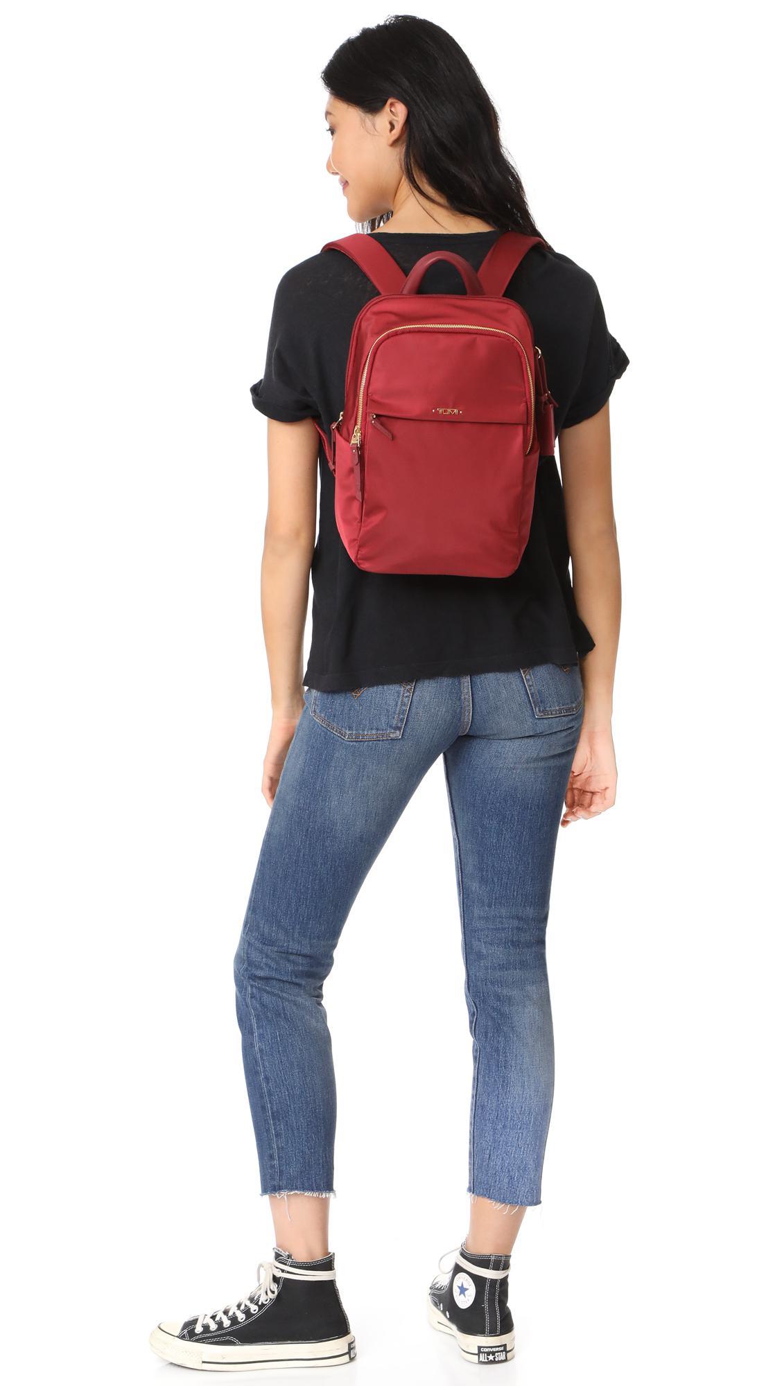 Lyst - Tumi Daniella Small Backpack in Red 92825101ea