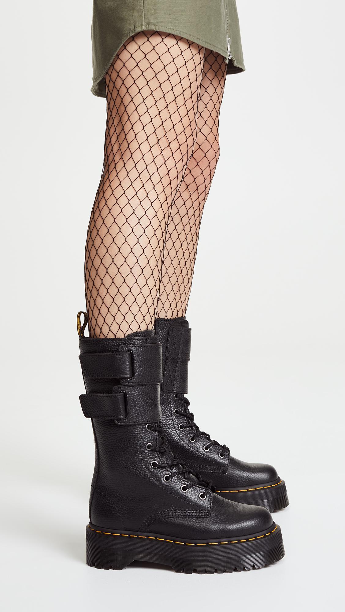 Lyst - Dr. Martens Jagger 10 Eye Boots in Black ea96bb5550