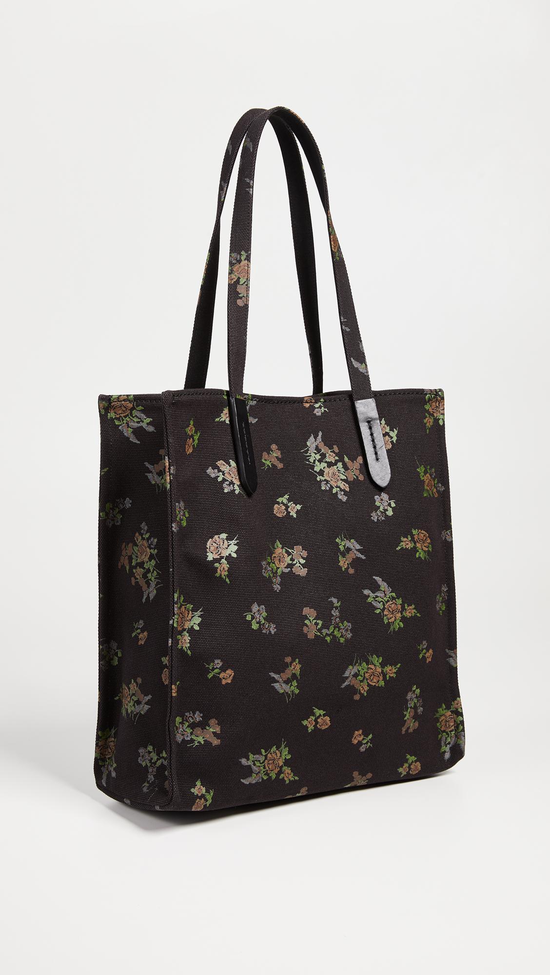 COACH Canvas Signature Love Tote Bag in Black