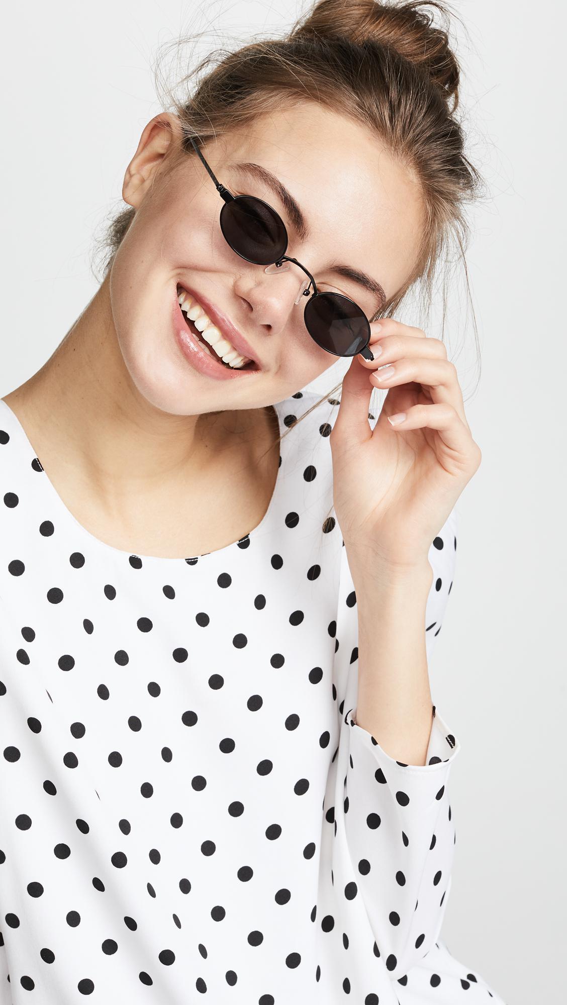e772a15843 ROBERI AND FRAUD - Black Doris Sunglasses - Lyst. View fullscreen