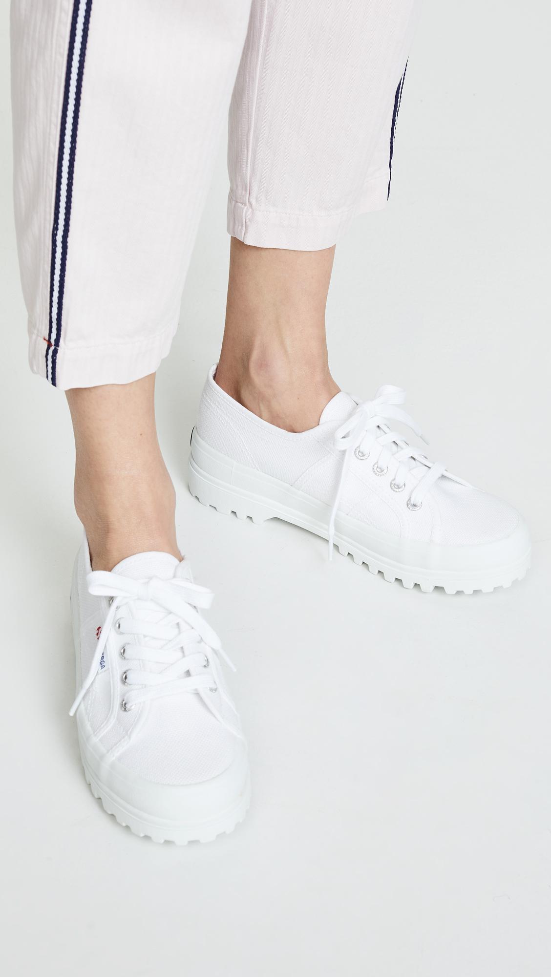 2555 Cotu Lug Sole Sneakers in White