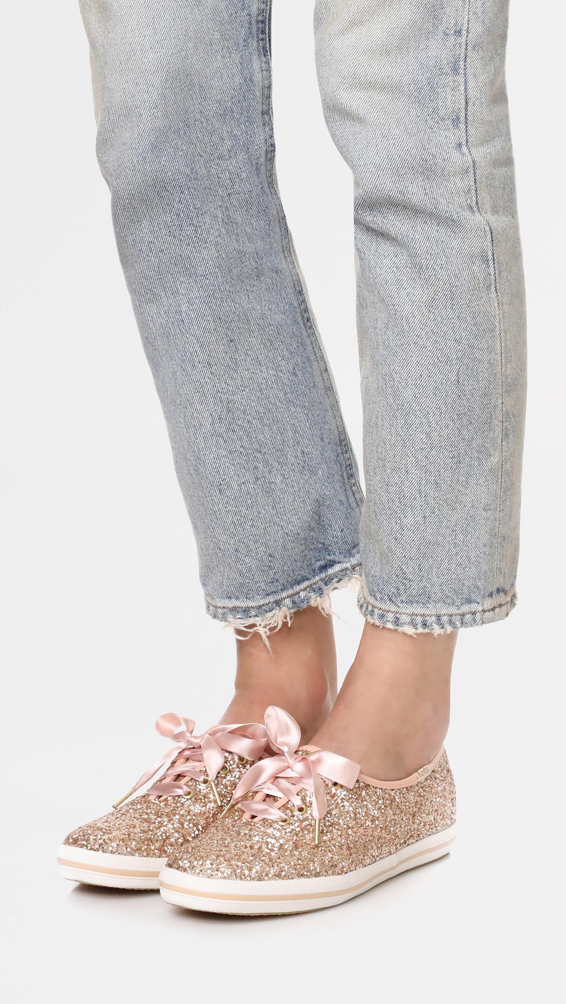 f4fbc4400358 Keds - Pink X Kate Spade New York Glitter Sneakers - Lyst. View fullscreen