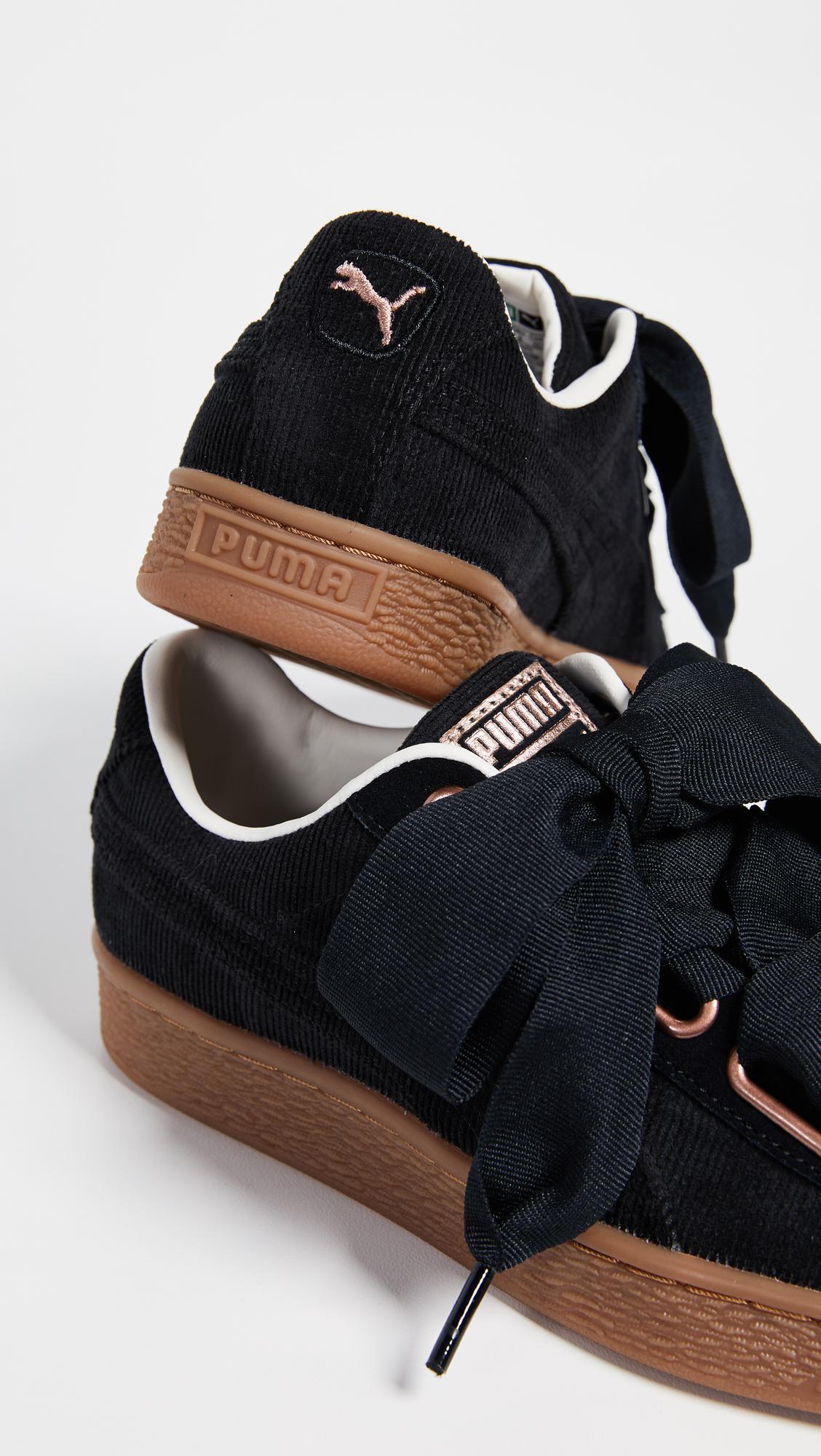 PUMA Basket Heart Corduroy Sneakers in