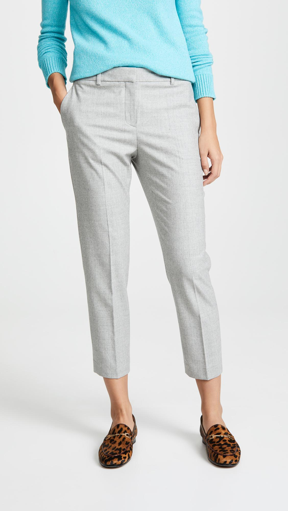 7b8a1bb72b Theory. Women's Gray Treeca Ii Trousers