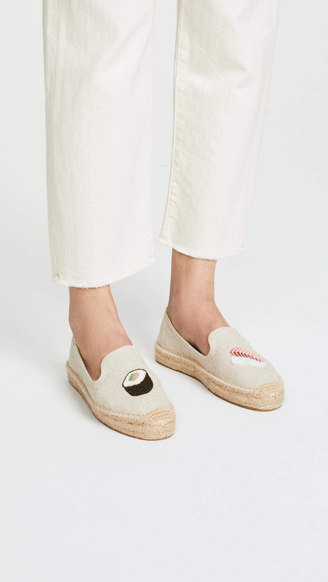 f88c03f3ae14 Lyst - Soludos Sushi Platform Smoking Slippers in Natural