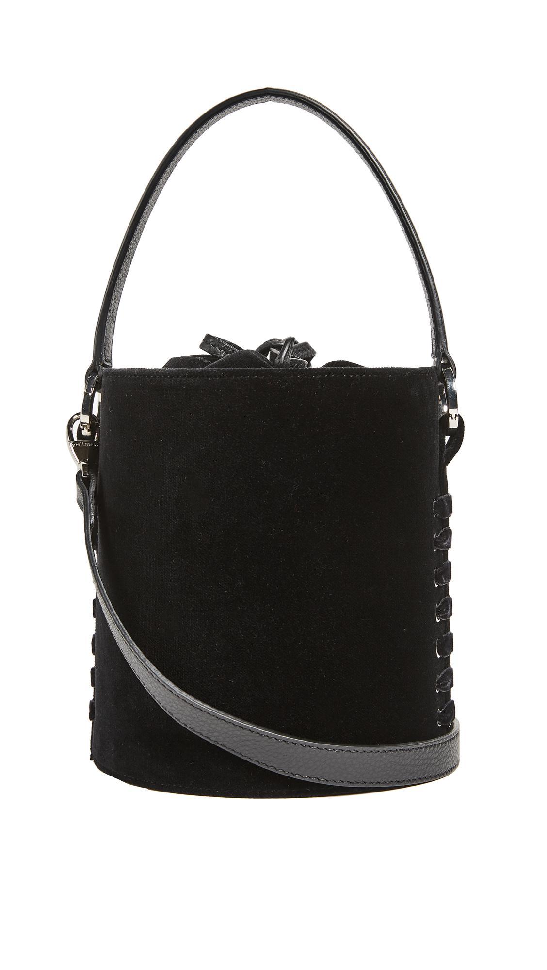 lyst meli melo santina mini eyelet bag in black. Black Bedroom Furniture Sets. Home Design Ideas