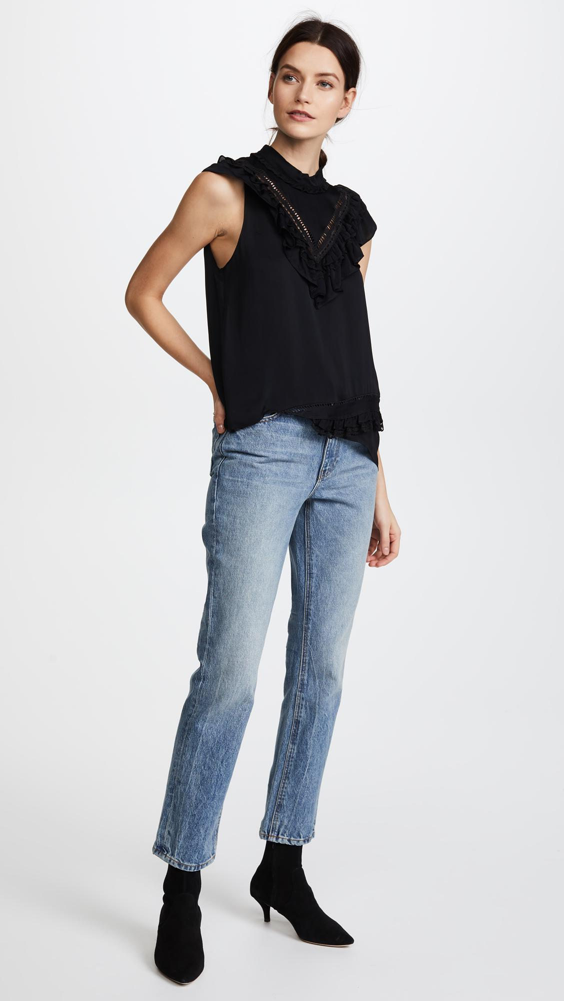 Preen By Thornton Bregazzi Synthetic Preen Line Bree Top in Black