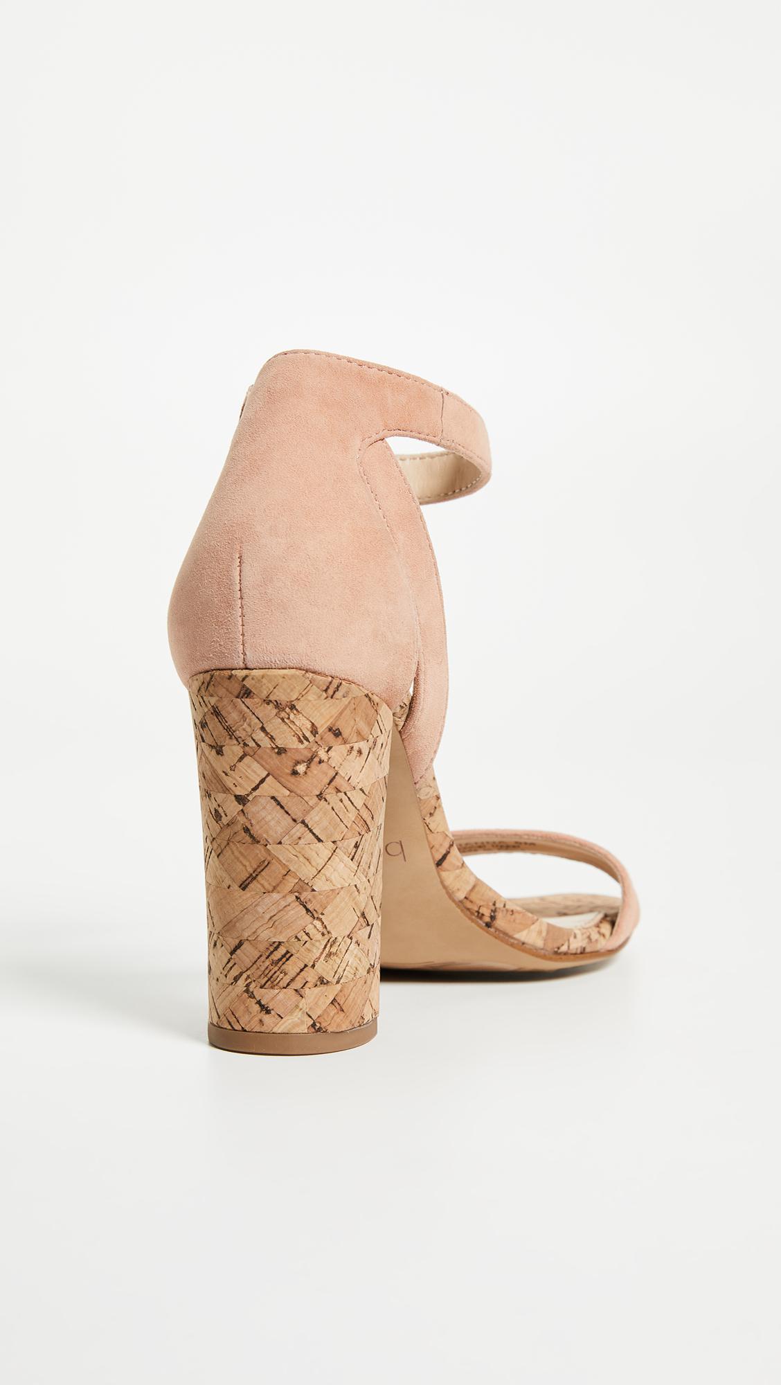 2f08a43656d Botkier Gianna Block Heel Sandals in Natural - Lyst