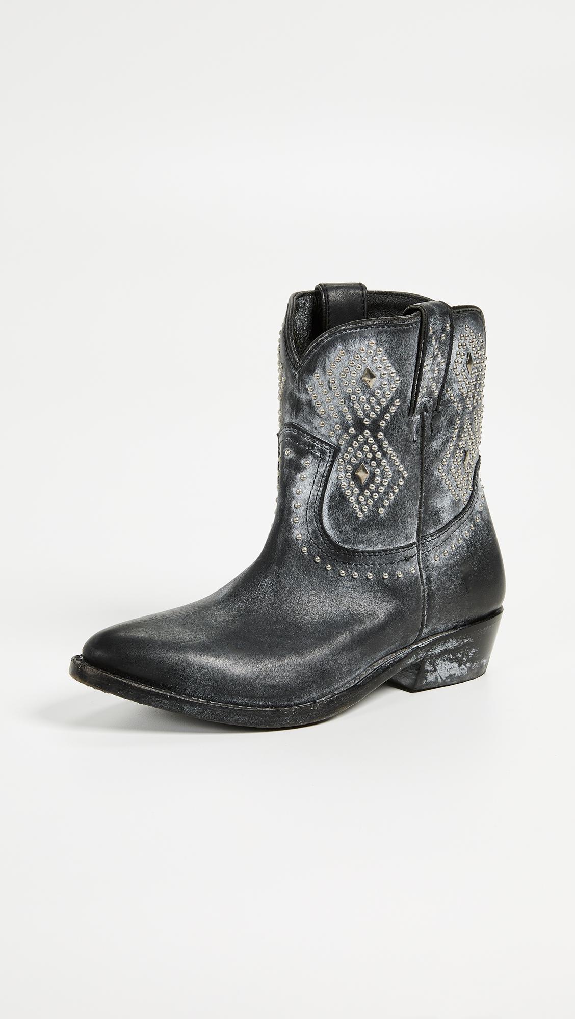 2b7fd07f5d5 Frye Billy Stud Short Boots in Black - Lyst