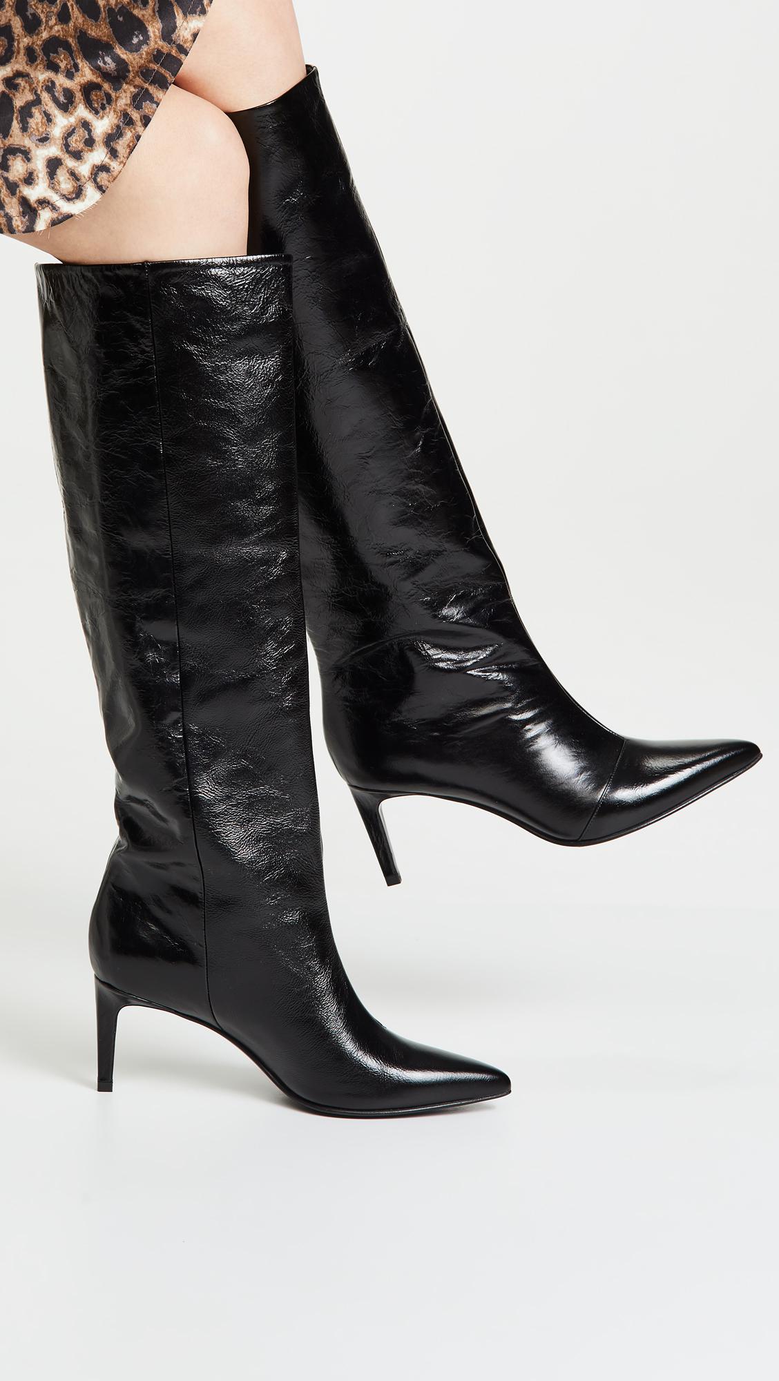 fba2ae44cfd Rag   Bone - Black Beha Knee High Boots - Lyst. View fullscreen