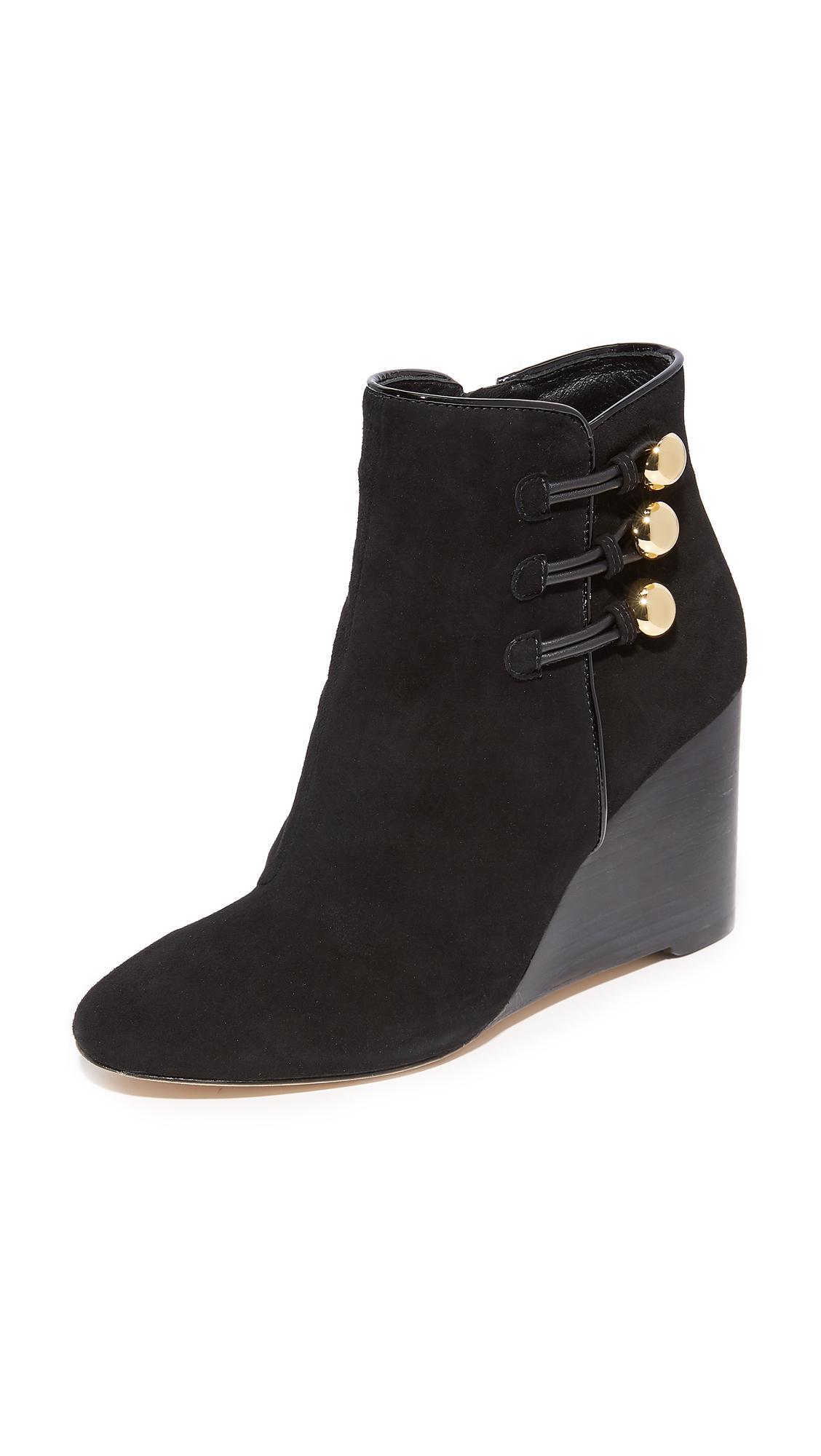 eec53c50da18 Kate Spade Geraldine Wedge Booties in Black - Lyst