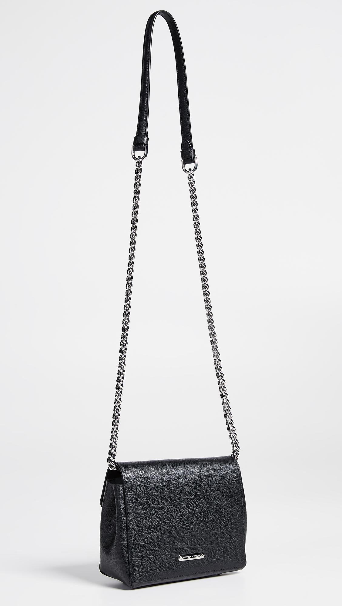 5c3fde4cc54e7 Rebecca Minkoff Stella Cross Body Bag in Black - Lyst