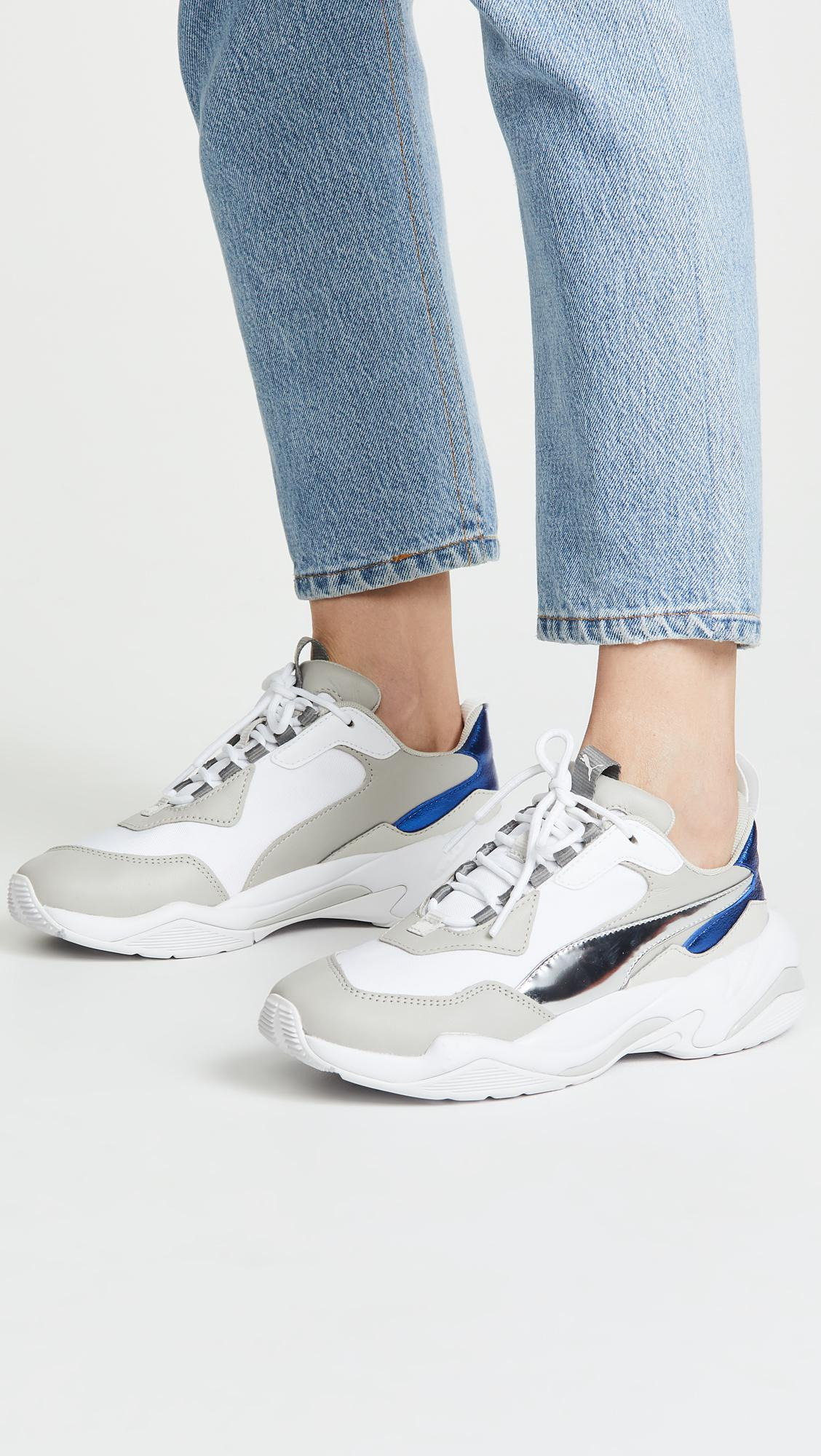 61f6d98d62e521 Lyst - PUMA Thunder Electric Sneakers in White