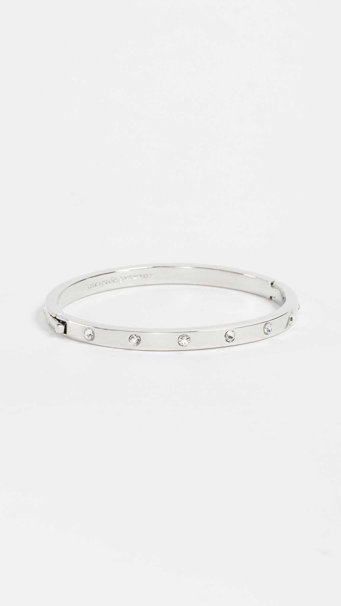 Kate Spade Set In Stone Hinged Bangle In Metallic Lyst
