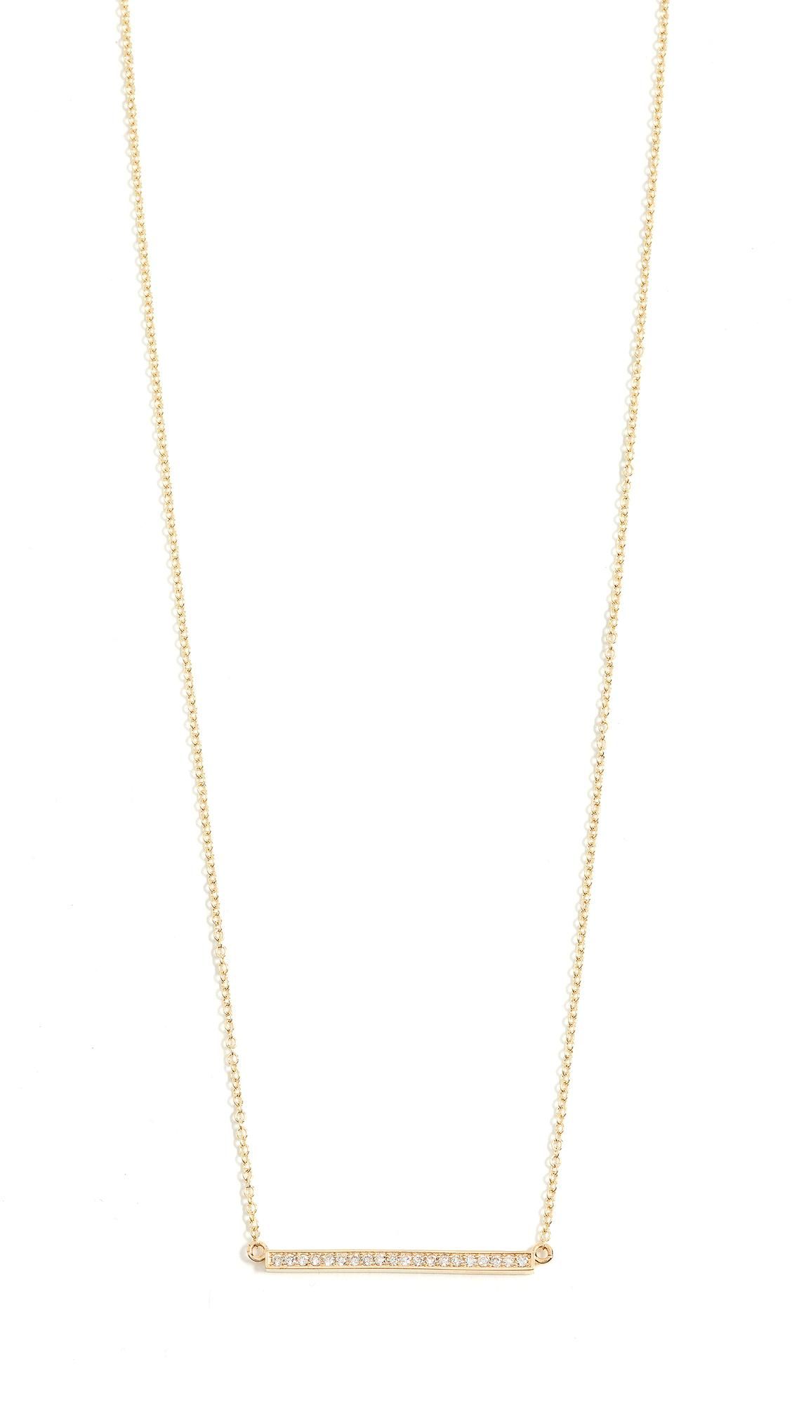 Stick 18-karat Gold Diamond Necklace - one size Jennifer Meyer 4Ty7KSTfq