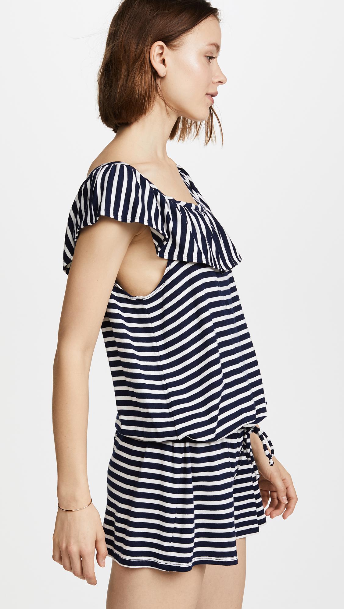 82123357873 Lyst - Splendid Stripe Covers Romper in Blue