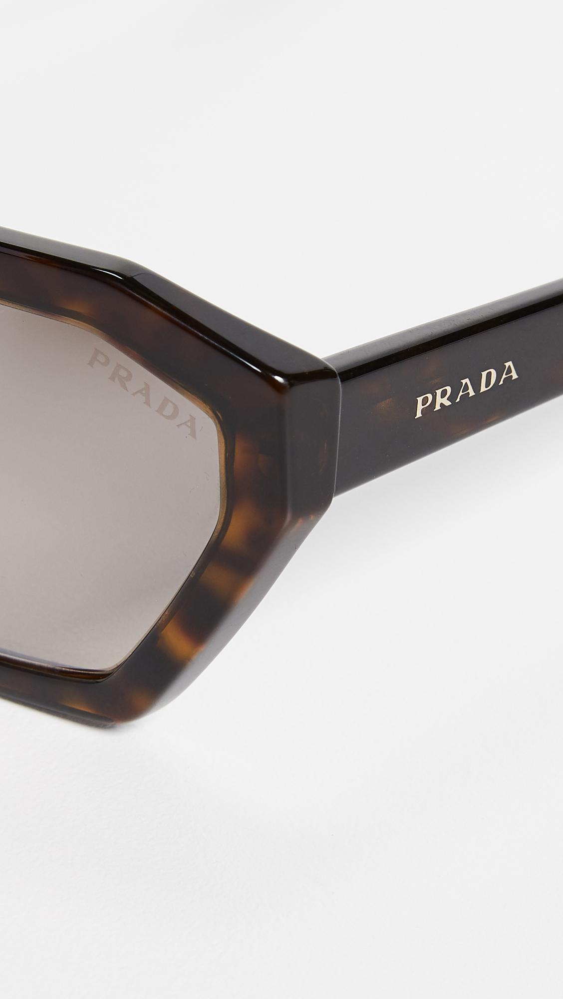 63fa7877c475 Prada Pr 03vs Millennial Geometric Sunglasses - Lyst