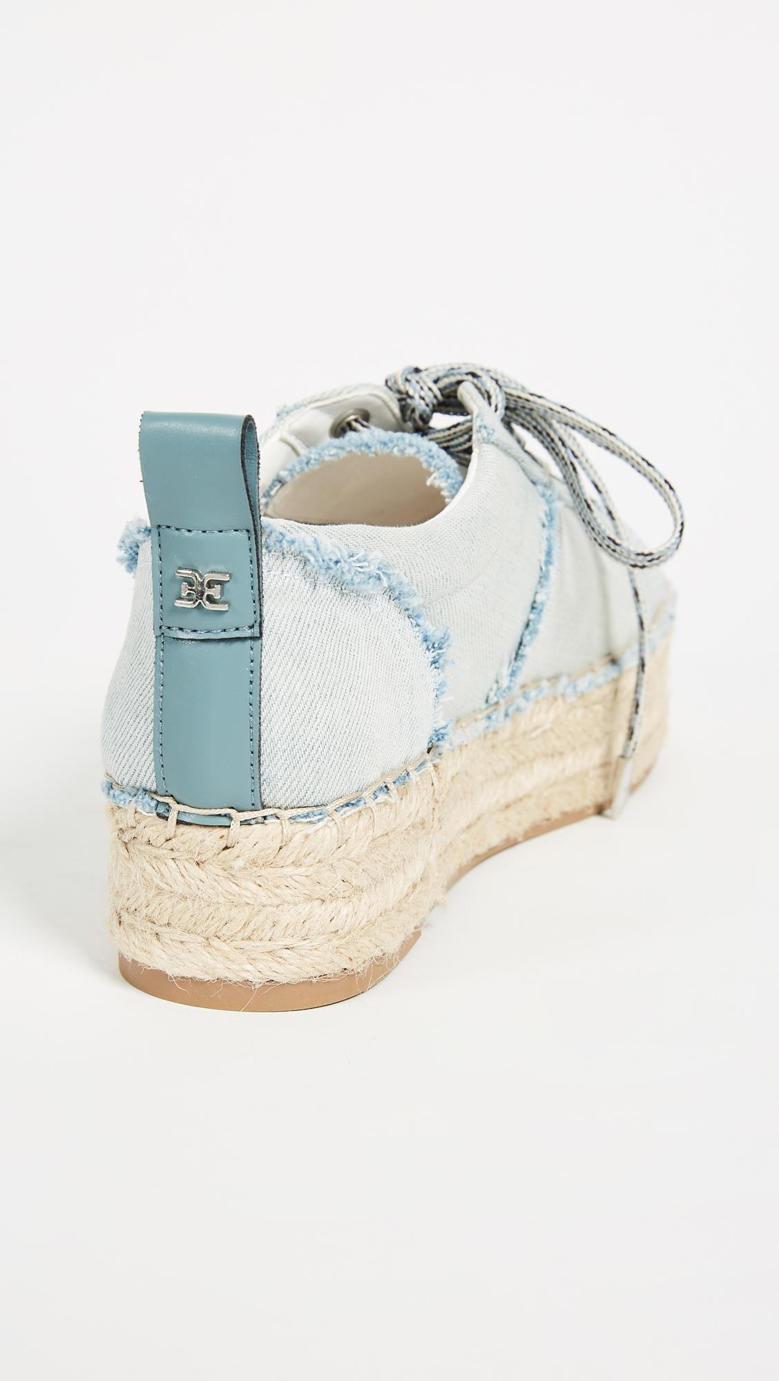 3675b235ff065 Sam Edelman Blue Carleigh Platform Espadrille Sneakers