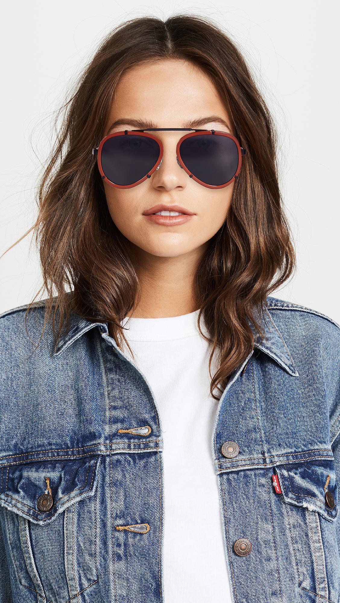 2d84099c39f Lucy Folk - Blue Frequent Flyer Sunglasses - Lyst. View fullscreen
