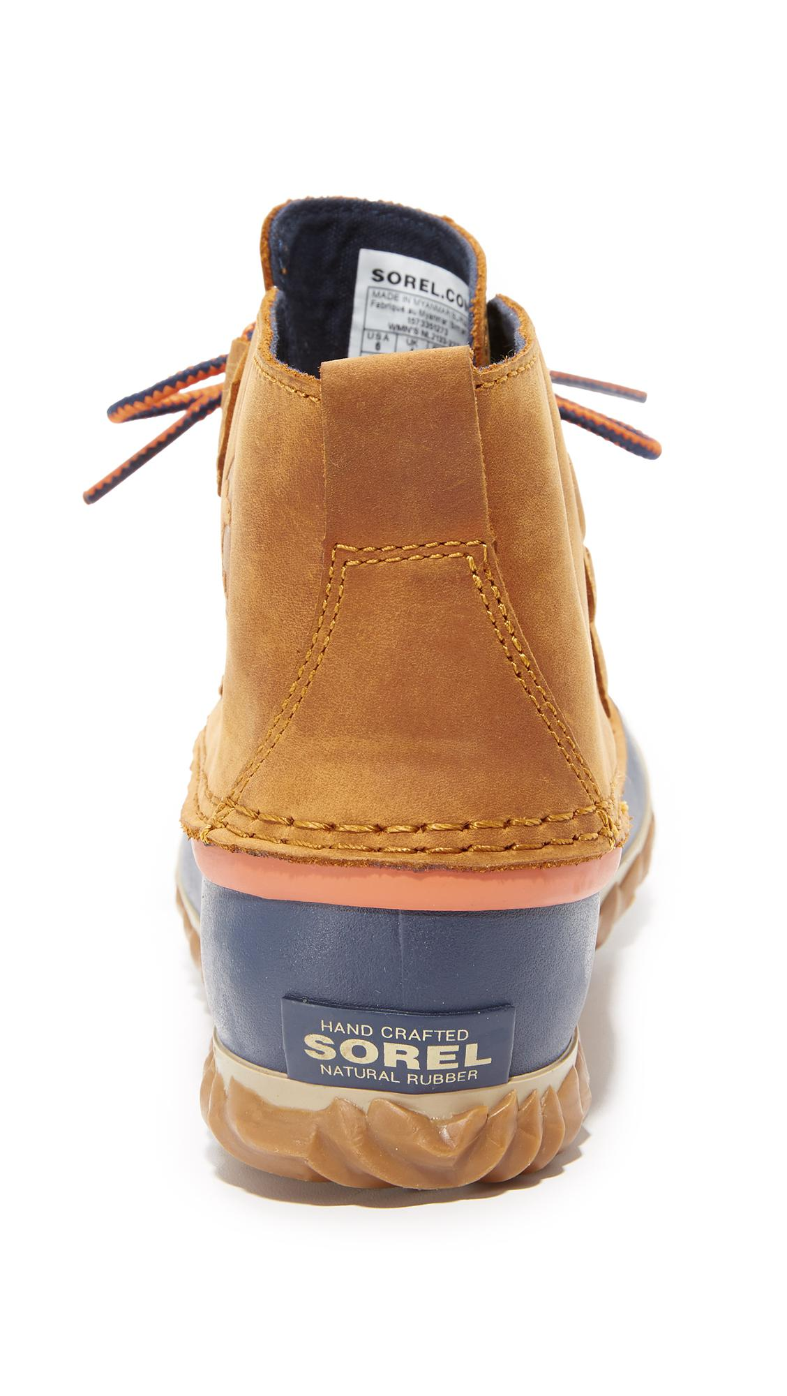 Sorel Out N About Leather Rain Snow Boot in Caramel (Blue)
