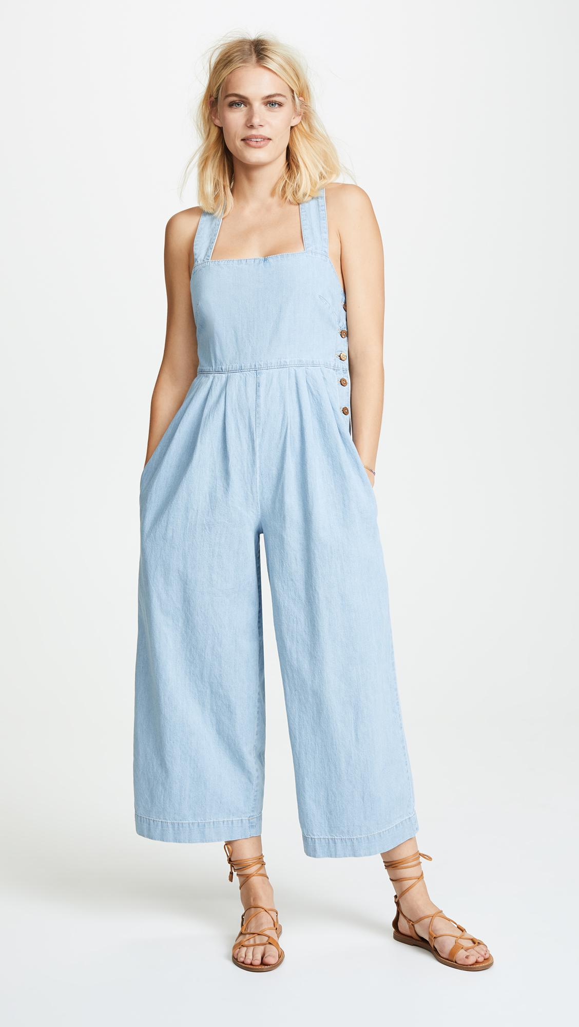 381050d07a9 Free People Fara Jumpsuit in Blue - Lyst