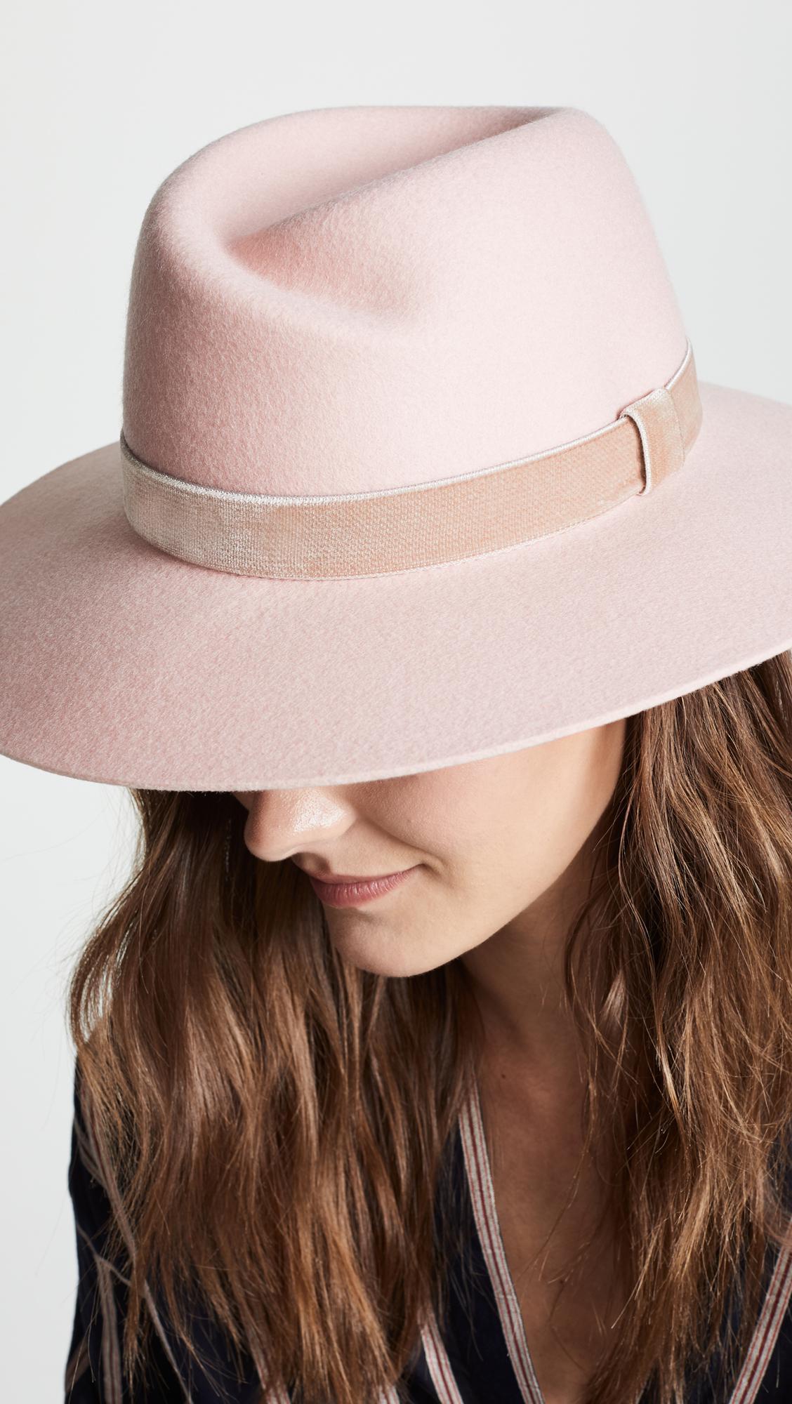 c55fffc128181 Rag   Bone Zoe Fedora Hat in Pink - Lyst