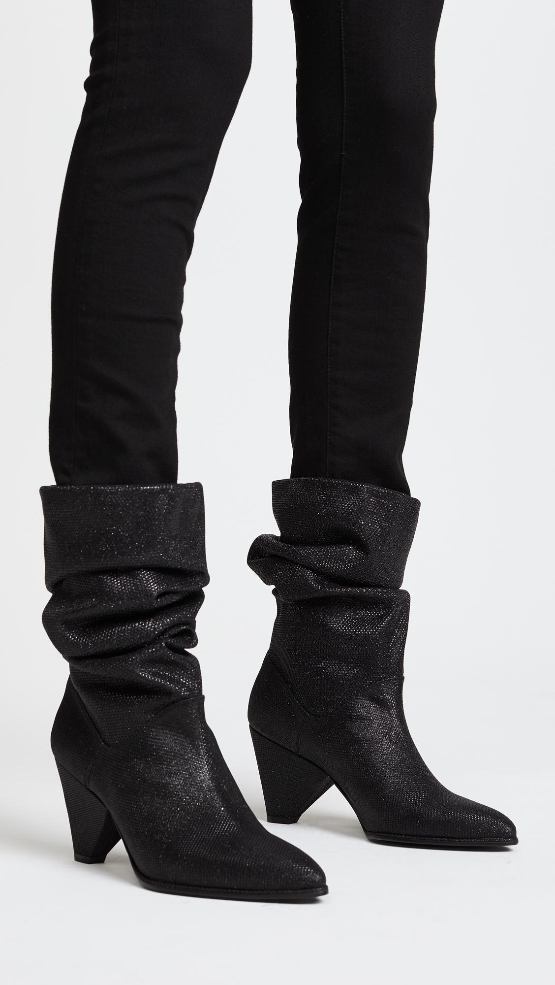 carvela scrunch boots