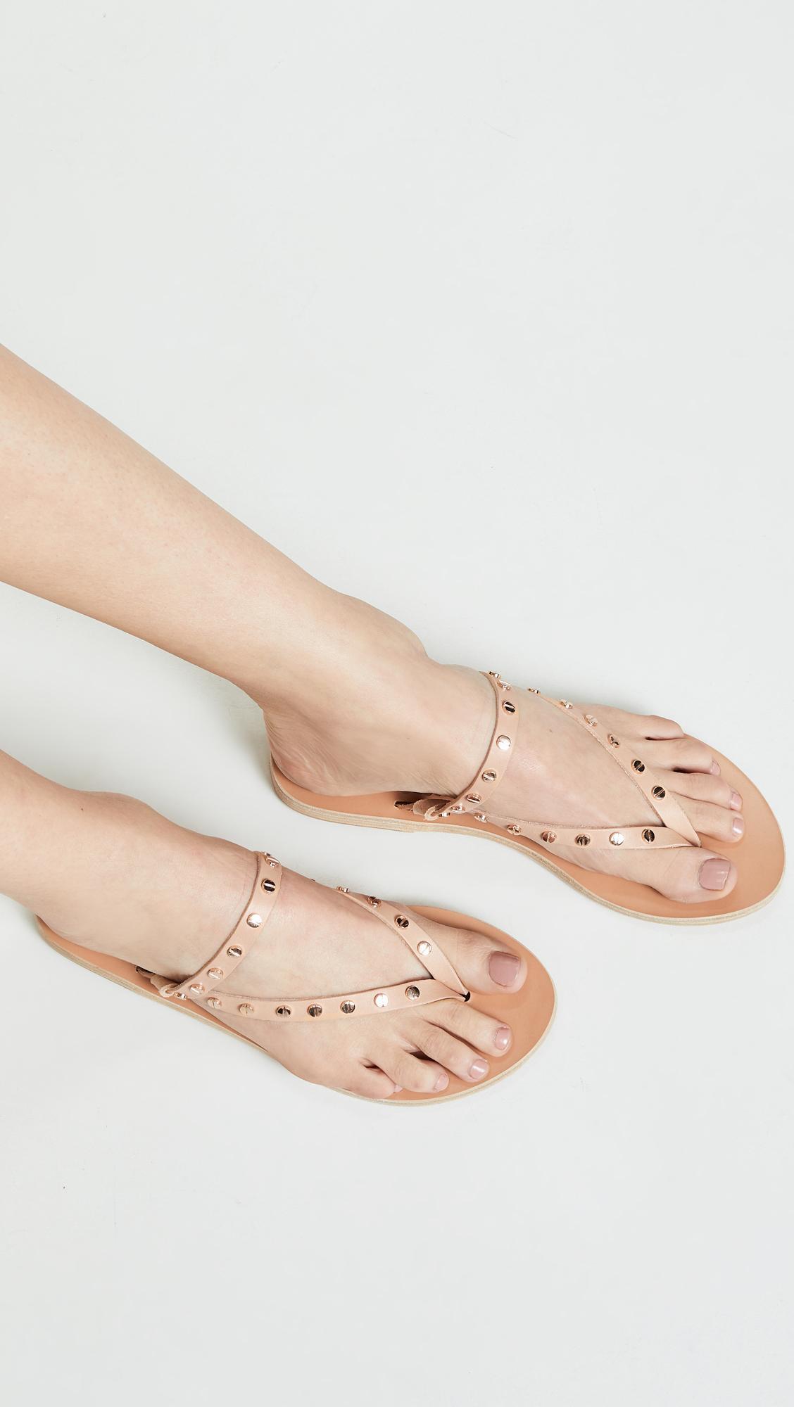 26a74dbad Ancient Greek Sandals - Natural Mirsini Nails Flip Flops - Lyst. View  fullscreen