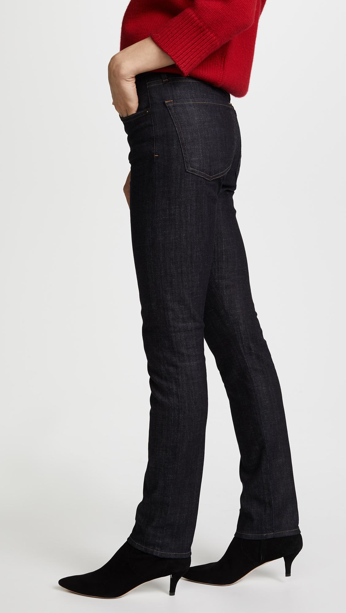 Citizens of Humanity Denim Agnes Slim Straight Jeans in Grey