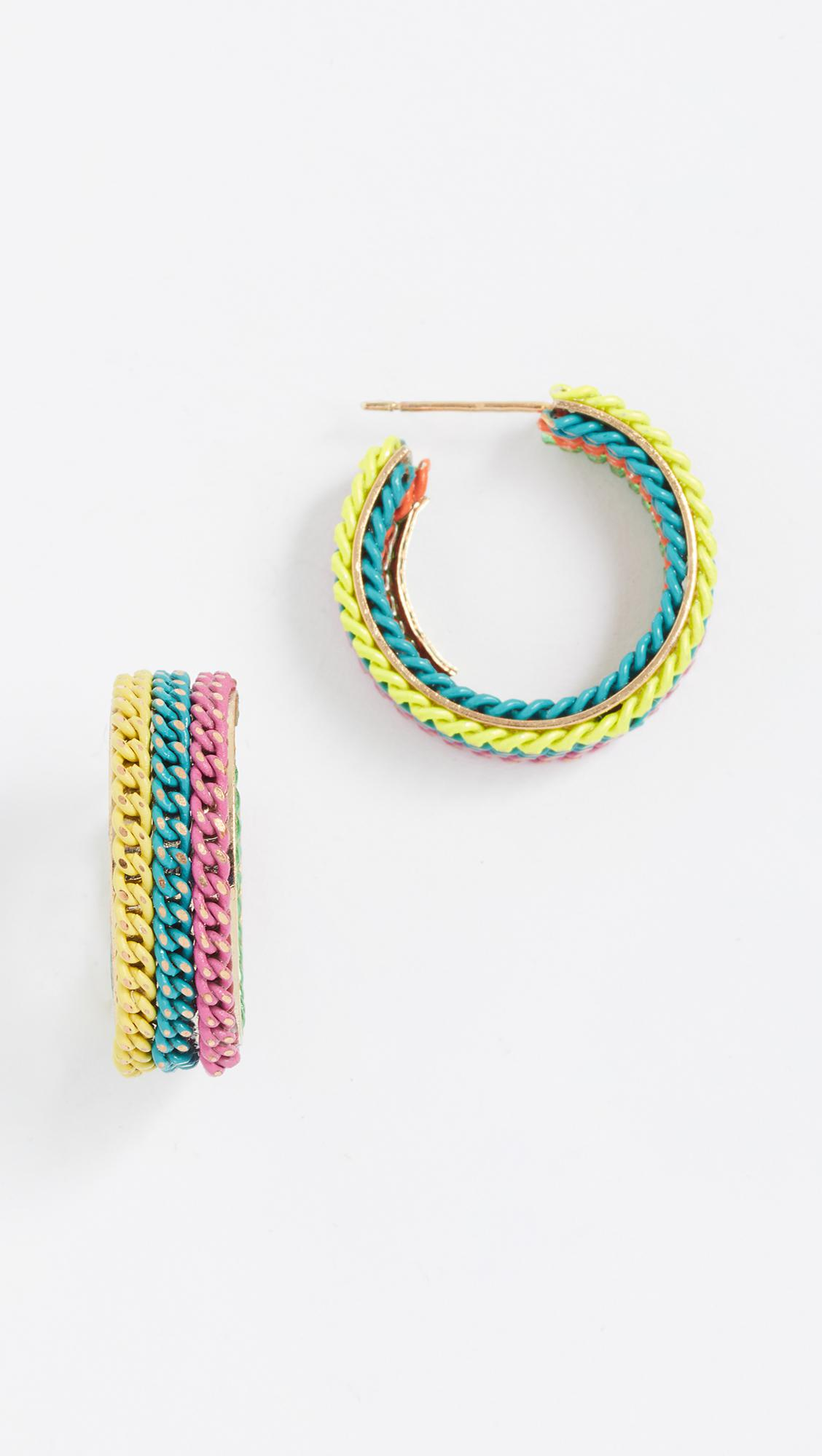 Rosantica Millefili Neon Fringe Hoop Earrings jBrdFTd