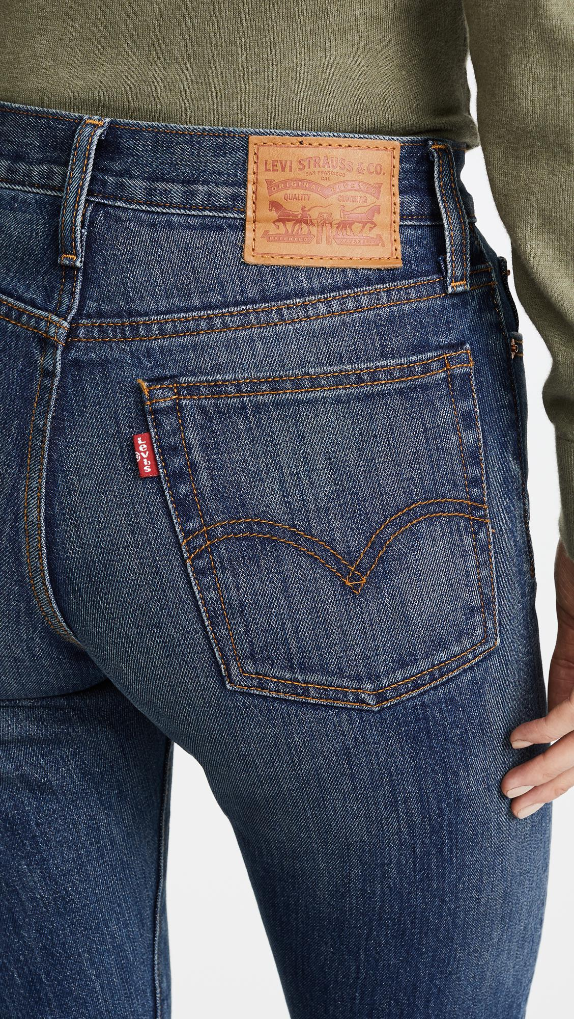 Levi S Wedgie Icon Jeans In Blue Lyst