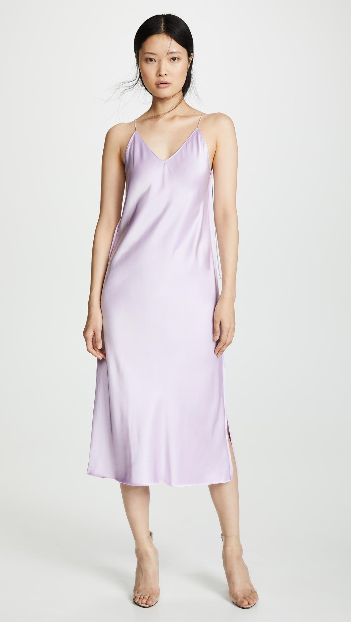 bb78cba86215 Lyst - Helmut Lang Raw Detail Slip Dress in Purple