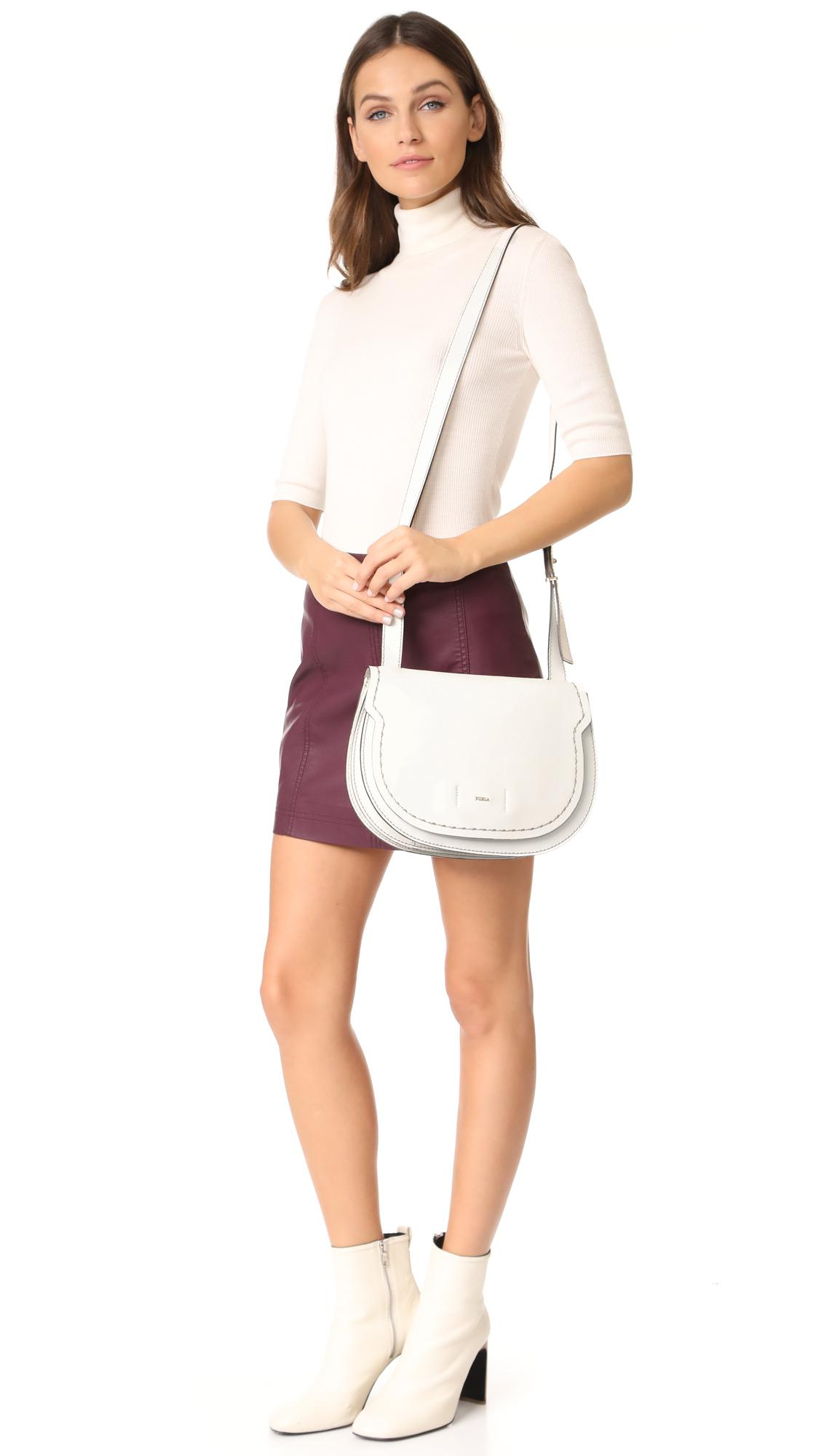Rolf S Nyc Lyst Furla Gioia Shoulder Bag In White