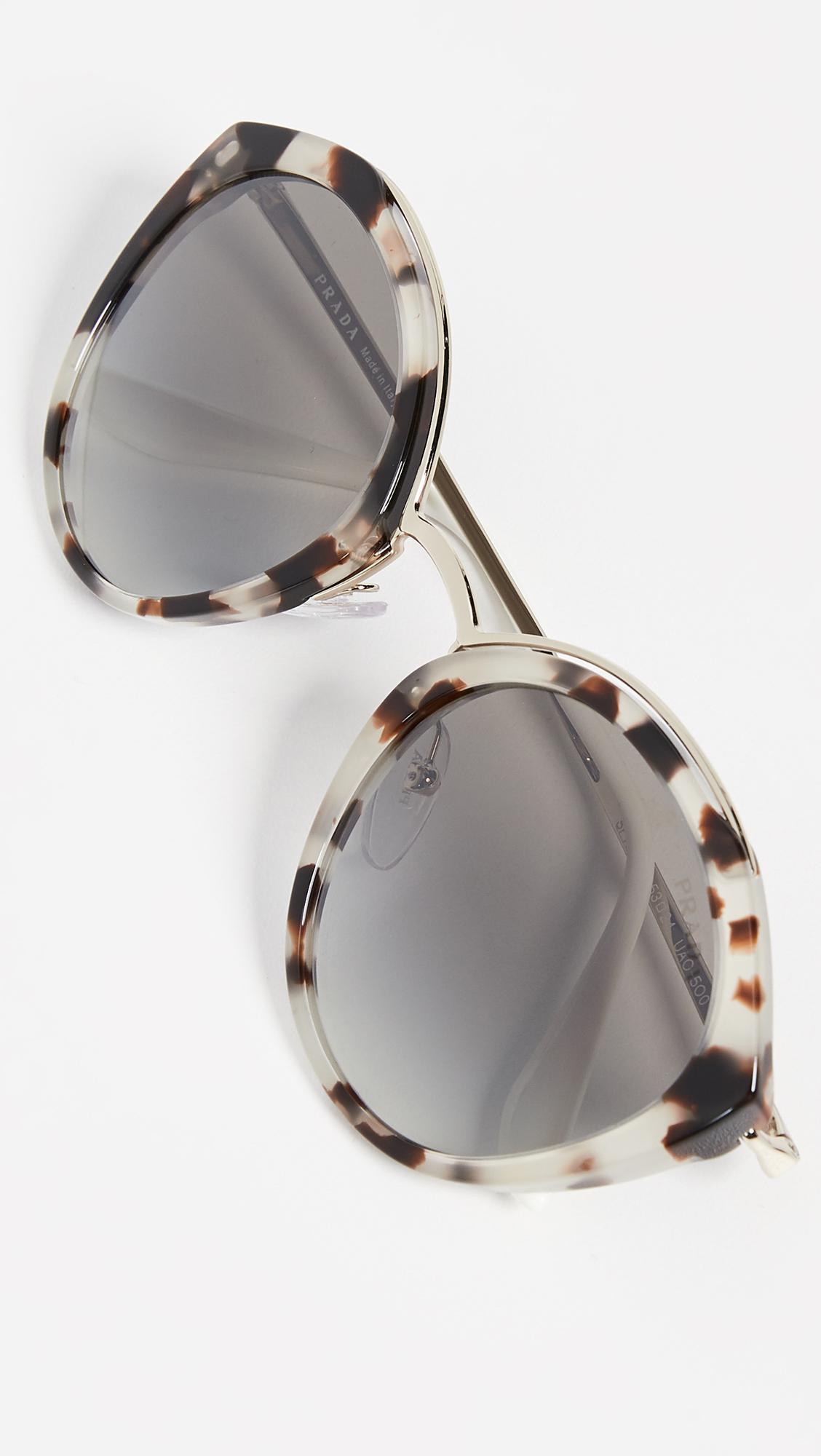 1c582d1b5427f Prada. Women s Pr 18us Oval Sunglasses