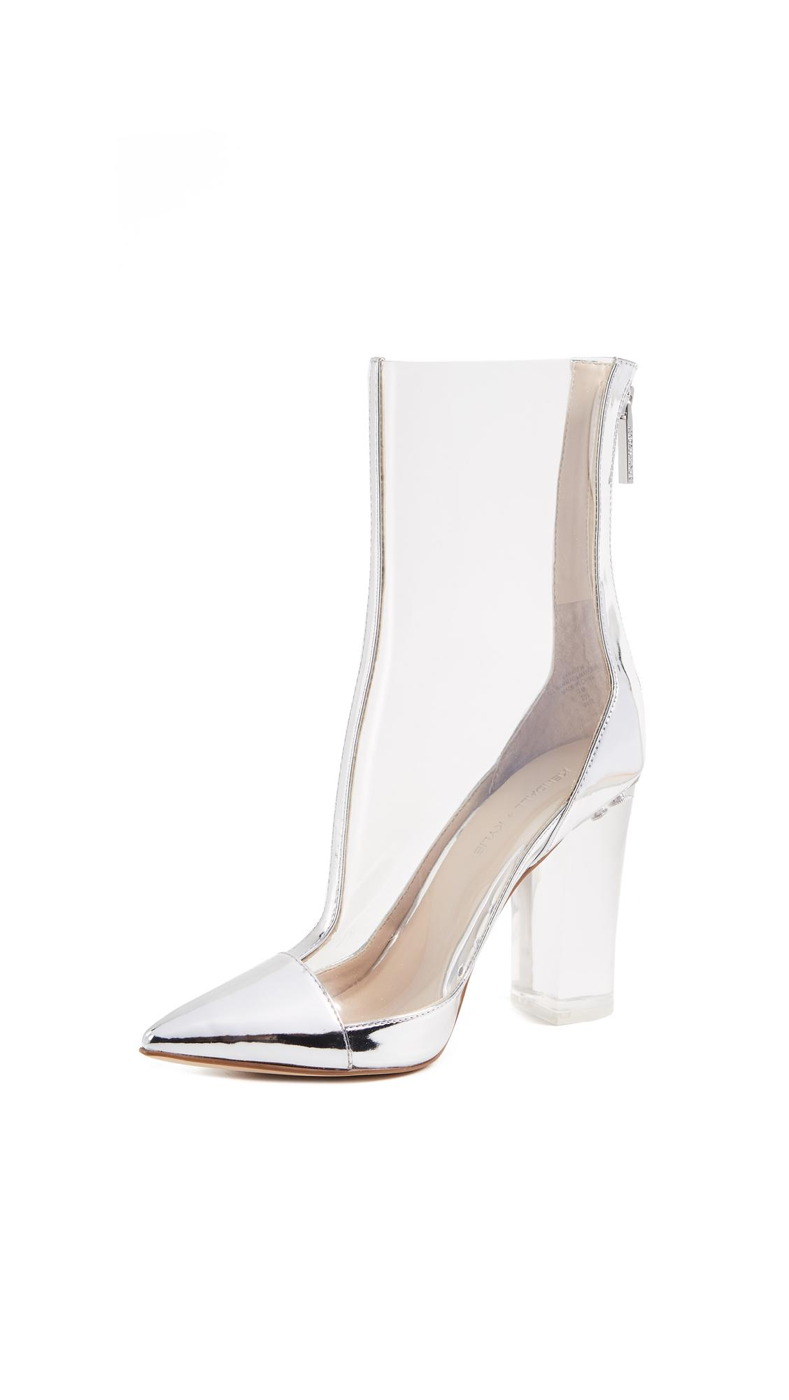 Kendall + Kylie Leather Haven Clear Booties