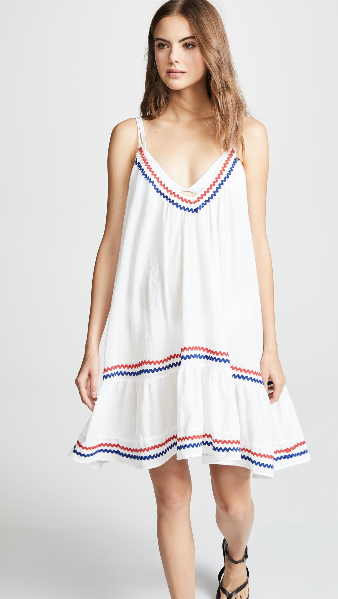 f3a1ec5a208c 9seed - White St Tropez Ruffle Mini Dress - Lyst. View fullscreen