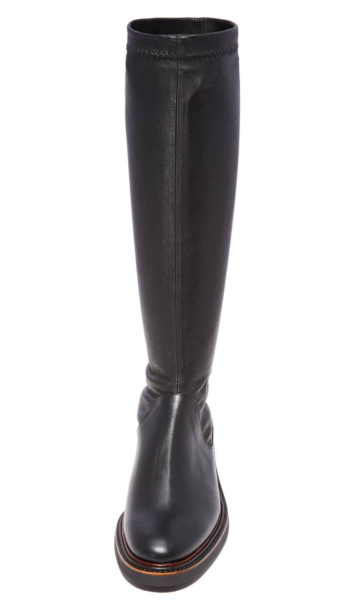 Robert Clergerie Leather Jeto Tall Boots in Black
