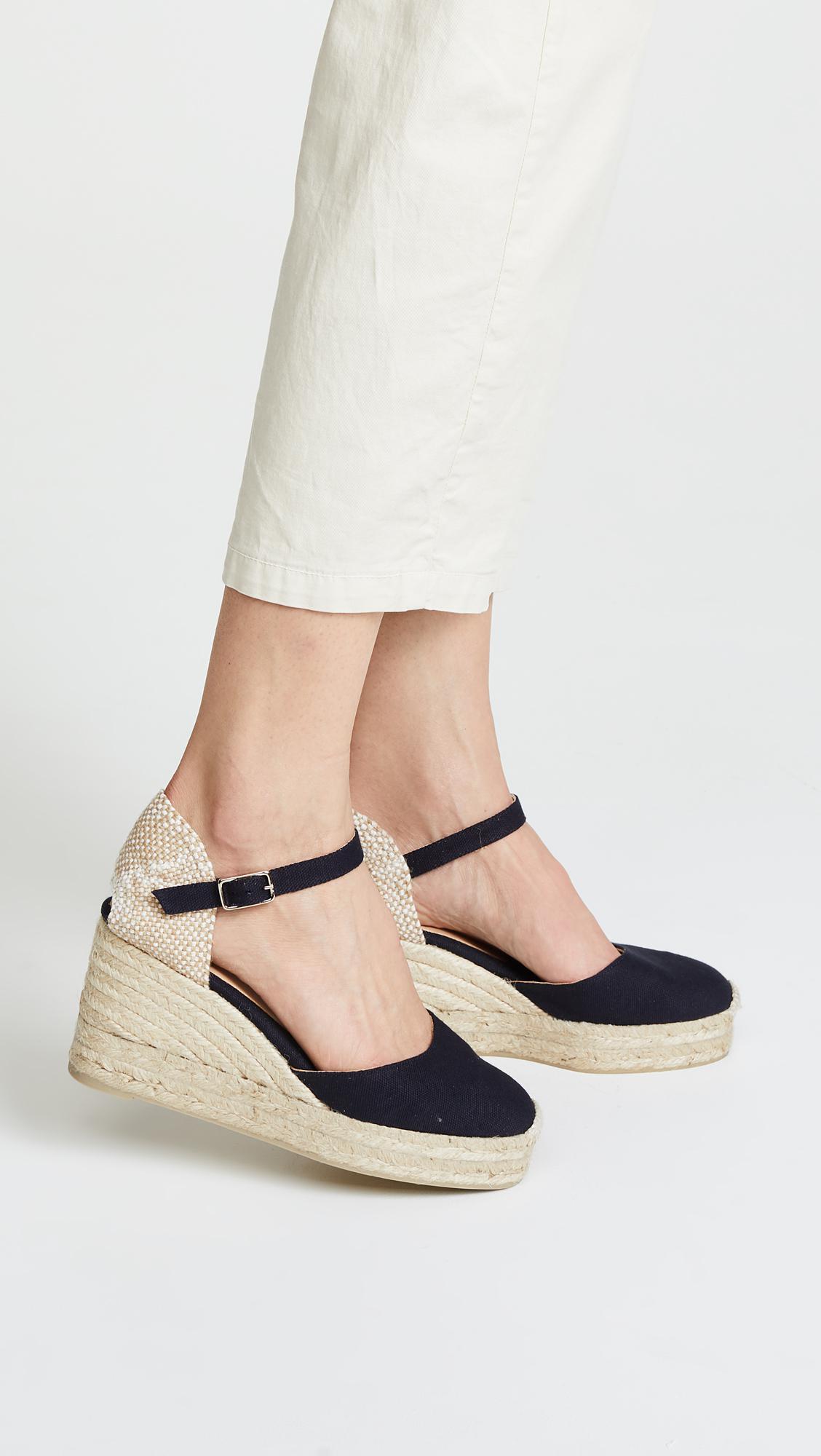Castaner Women's Carol Ankle Strap Platform Wedge Espadrilles r6nlr3