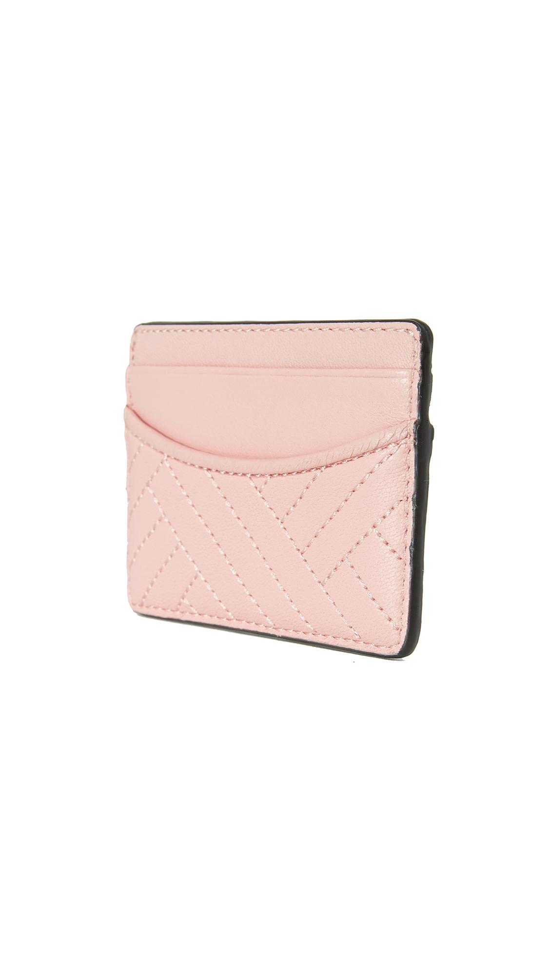 42983fe24980 Lyst - Tory Burch Alexa Slim Card Case in Pink