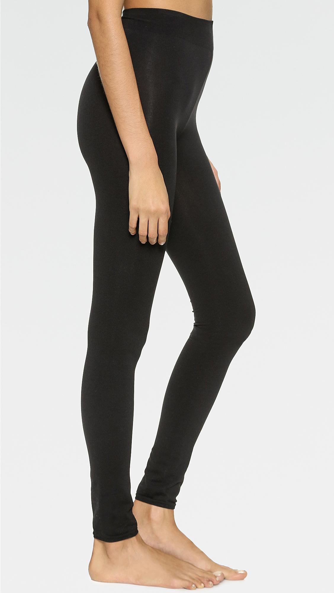01f16d2039c Wolford Velvet Sensation Leggings in Black - Lyst