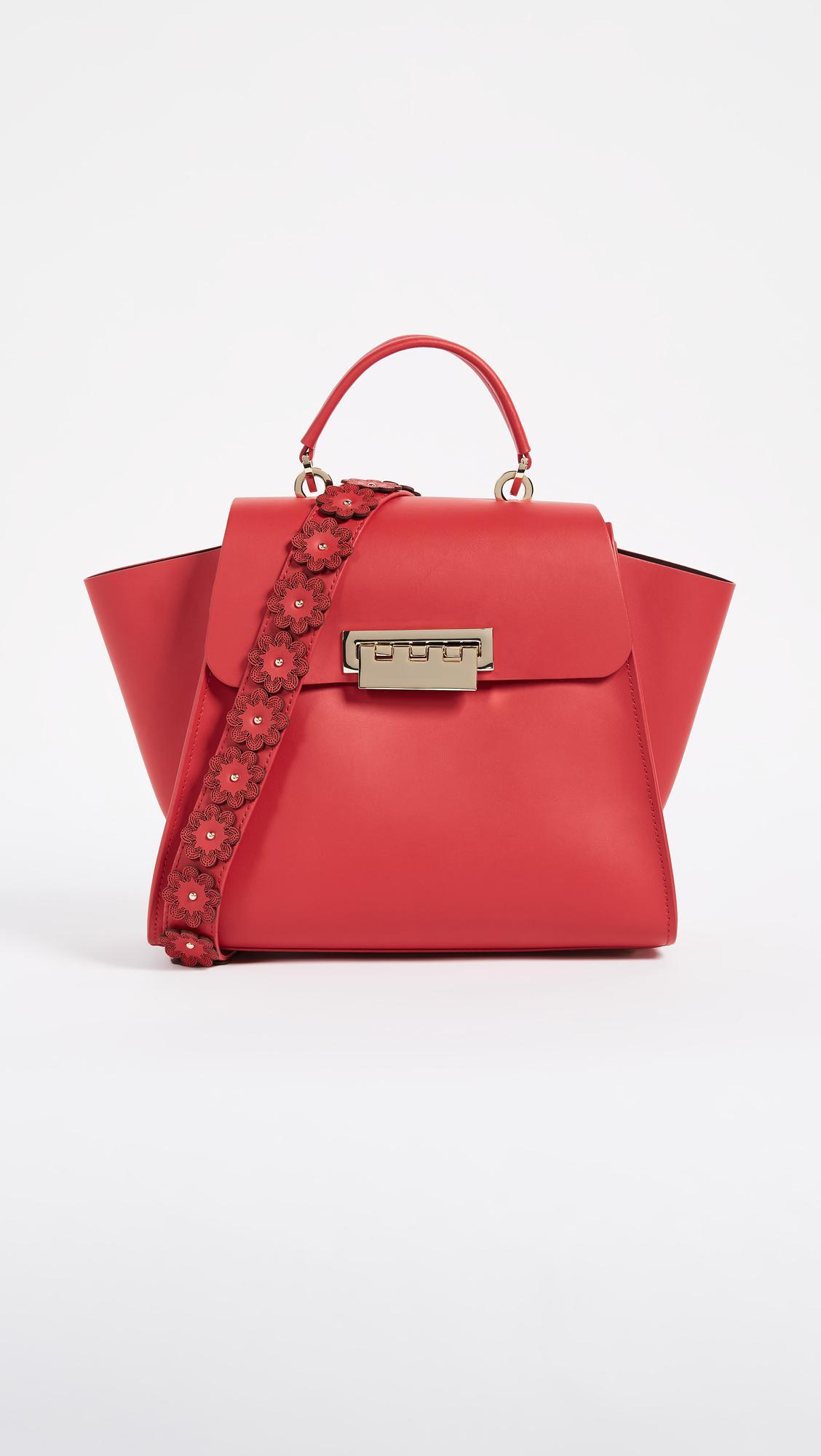 Zac Zac Posen Leather Eartha Iconic Top Handle Bag With