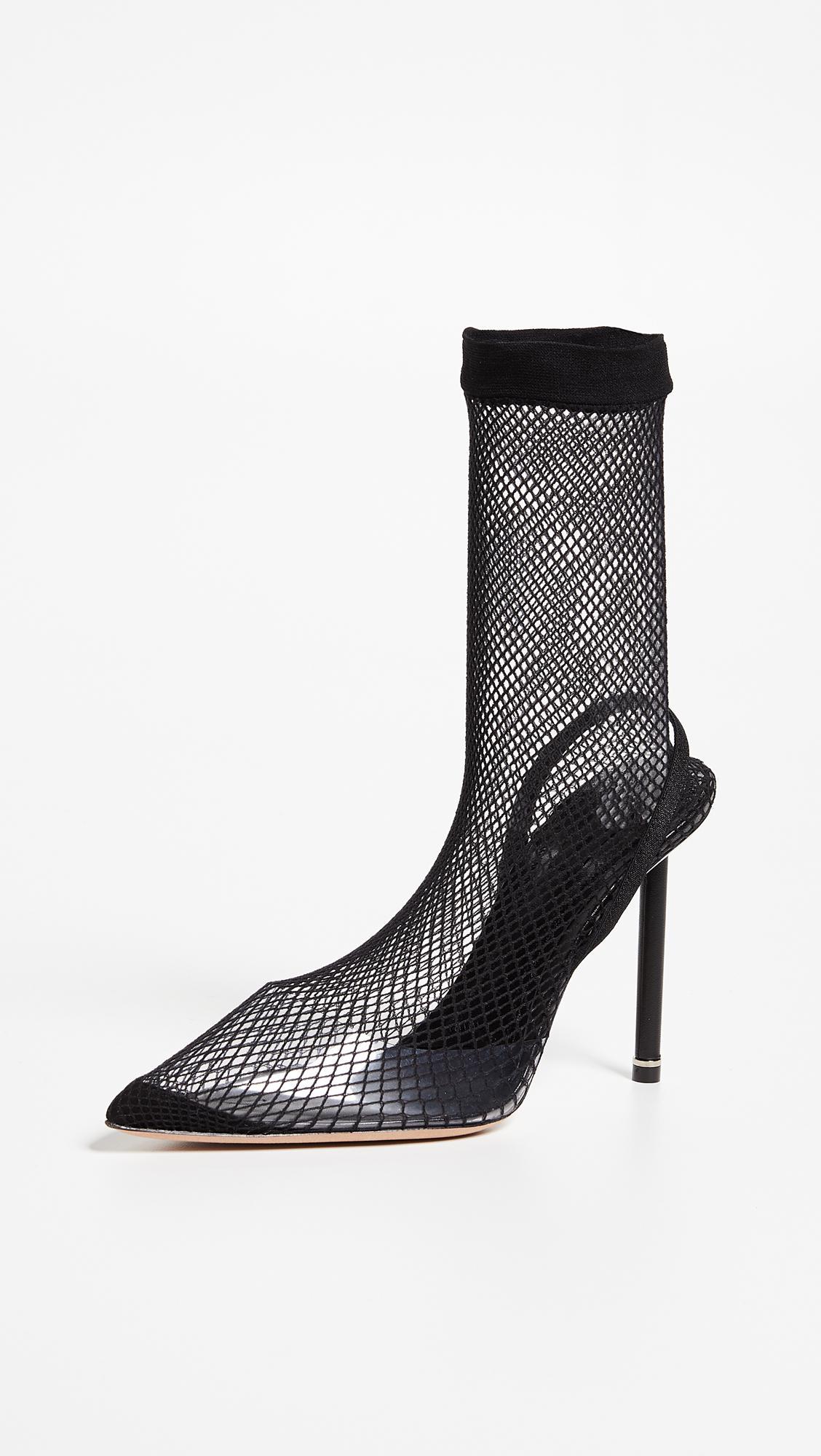 Alexander Wang Leather Caden High Heel Booties in Black