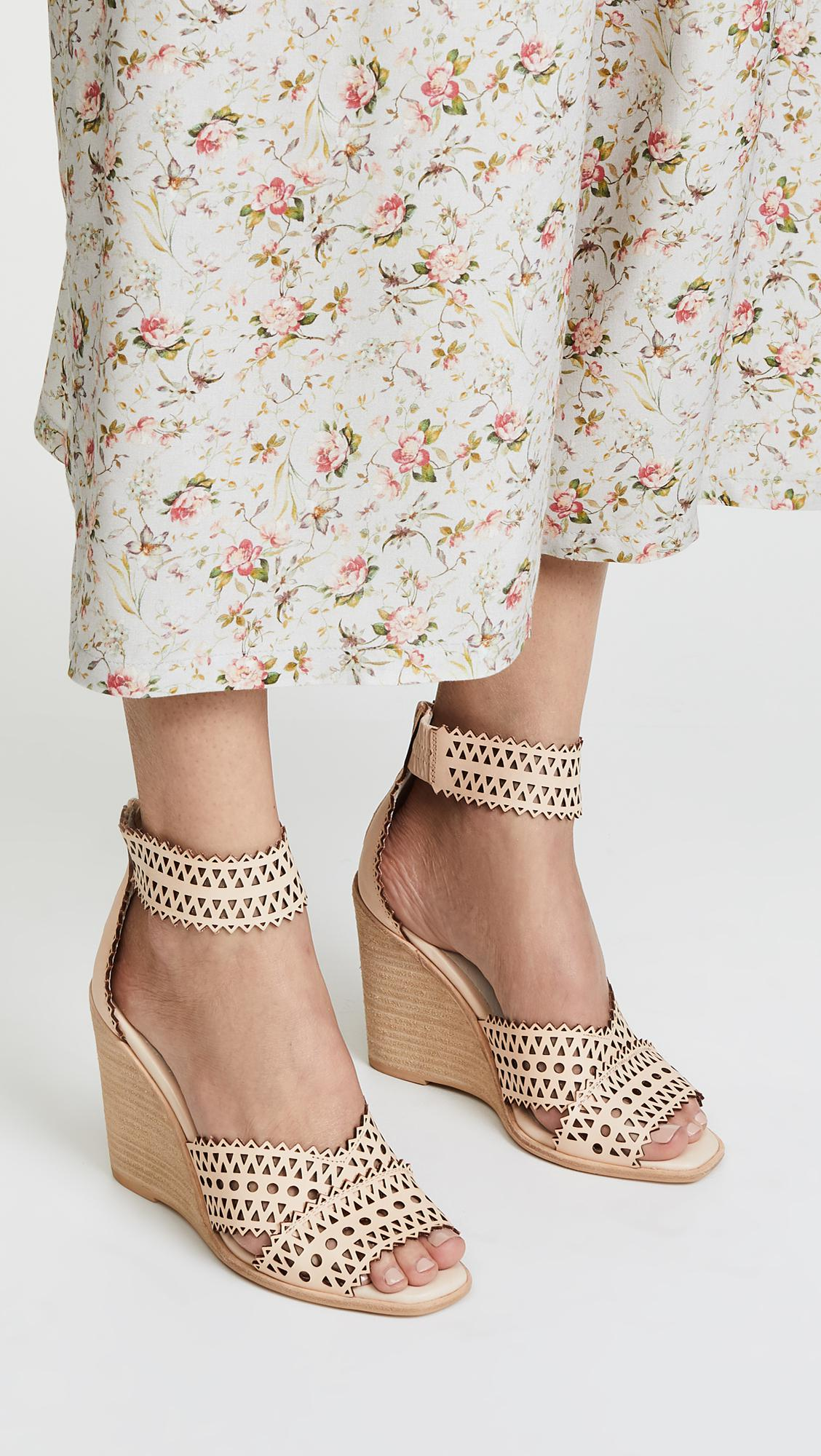 75e7b0af3e6 Jeffrey Campbell Besante Woven Wedges in Natural - Lyst