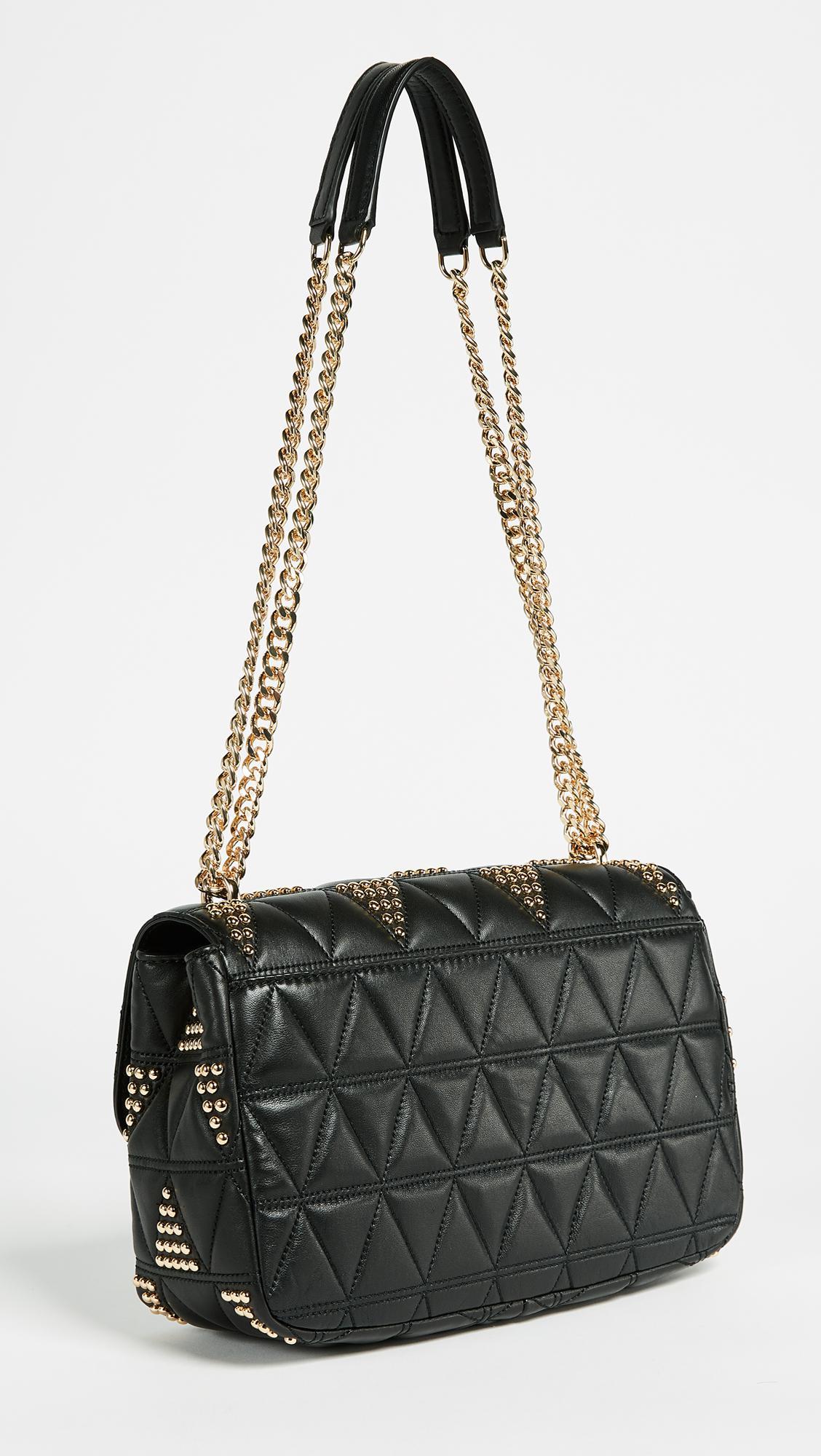 c6094d943f75 Lyst - Michael Michael Kors Sloan Large Chain Shoulder Bag in Black