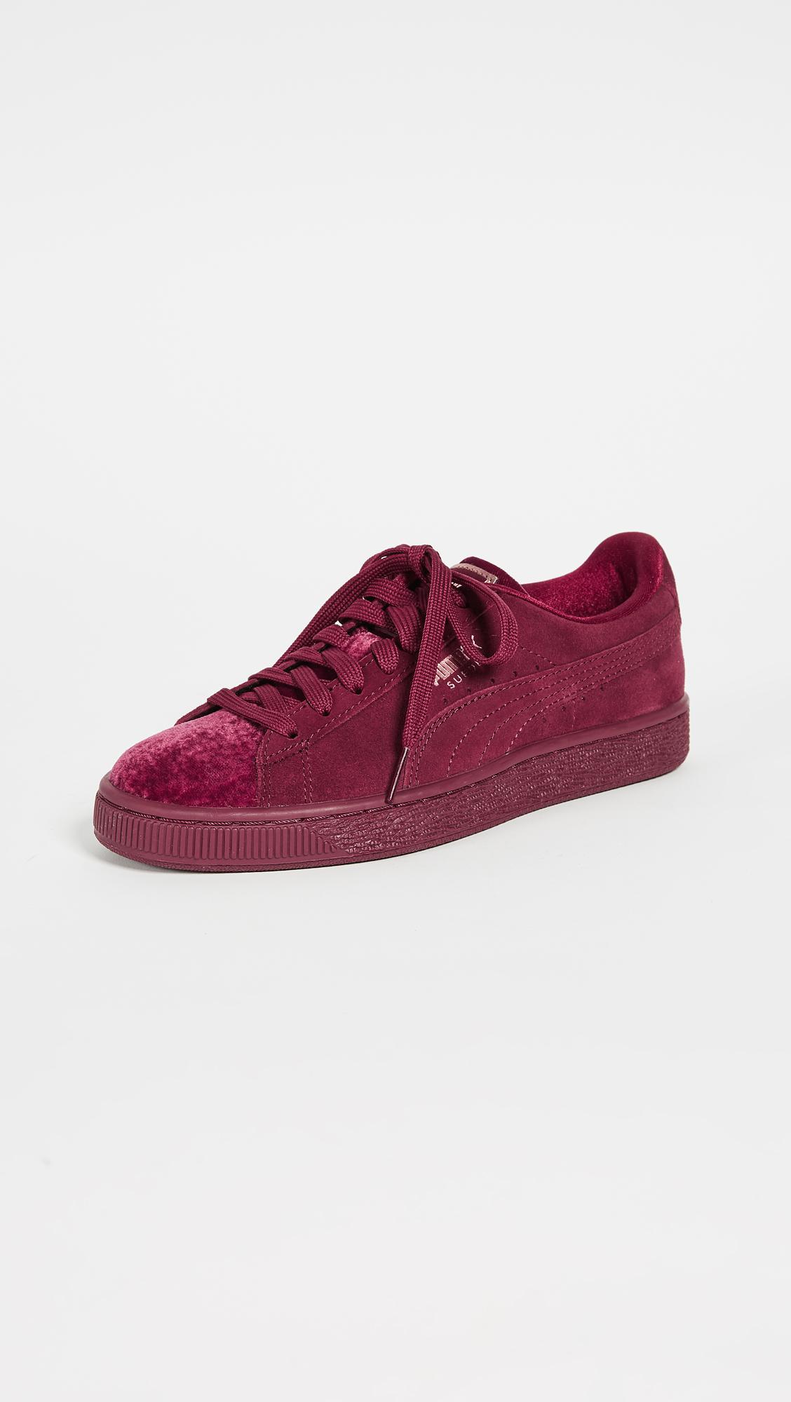 PUMA Suede Classic Velvet Sneakers in