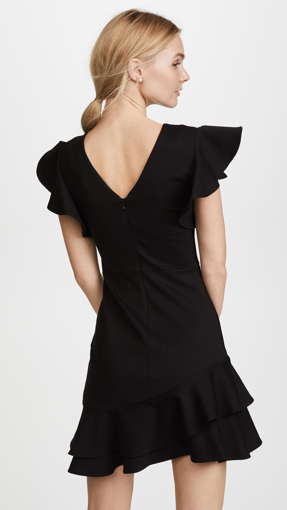 Lyst Amanda Uprichard Eclipse Dress In Black