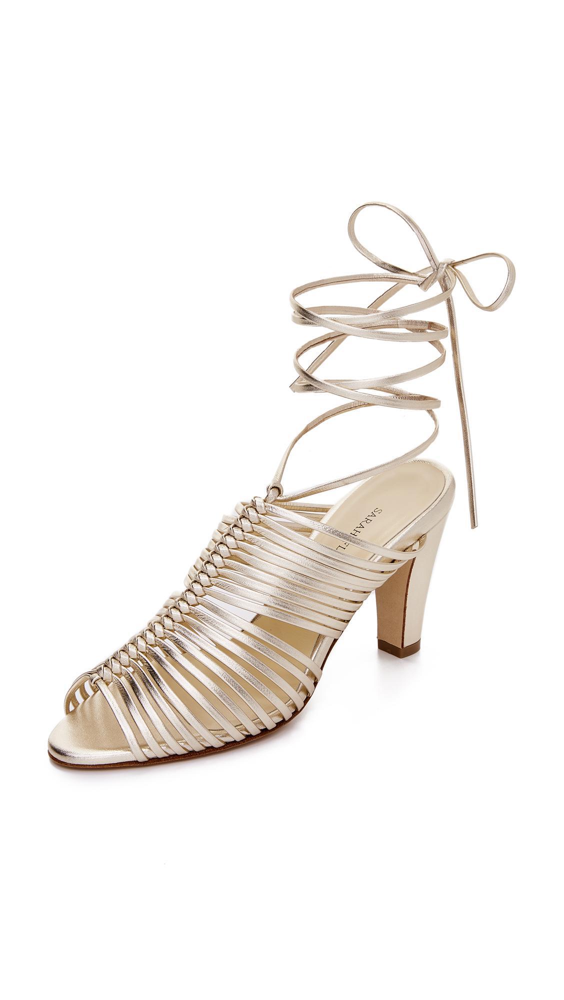 Womens Ivy Leather Ankle-Tie Sandals Sarah Flint Oc7dVUjHy