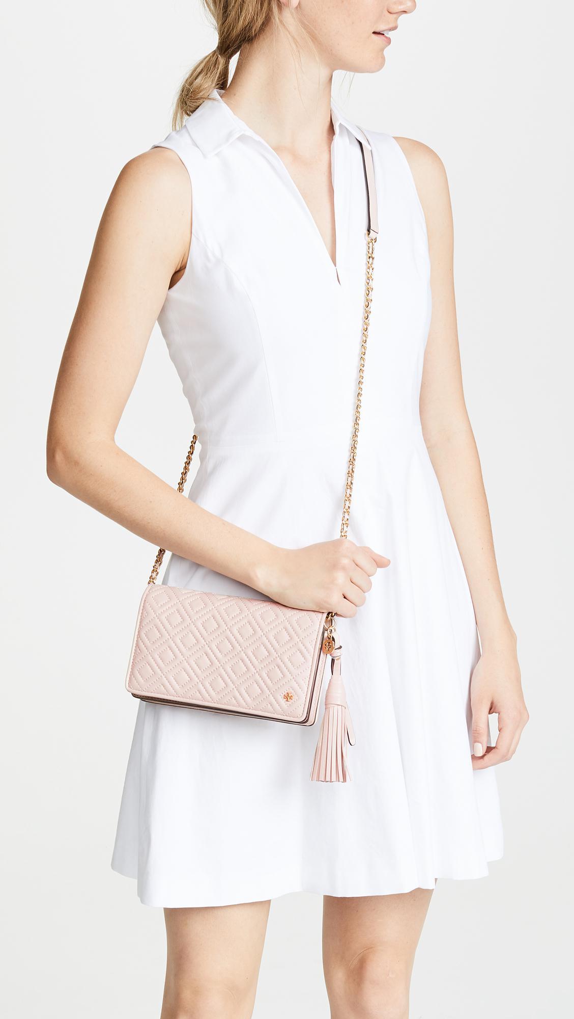 579ce04f255a1 Tory Burch - Pink Fleming Flat Wallet Cross Body Bag - Lyst. View fullscreen