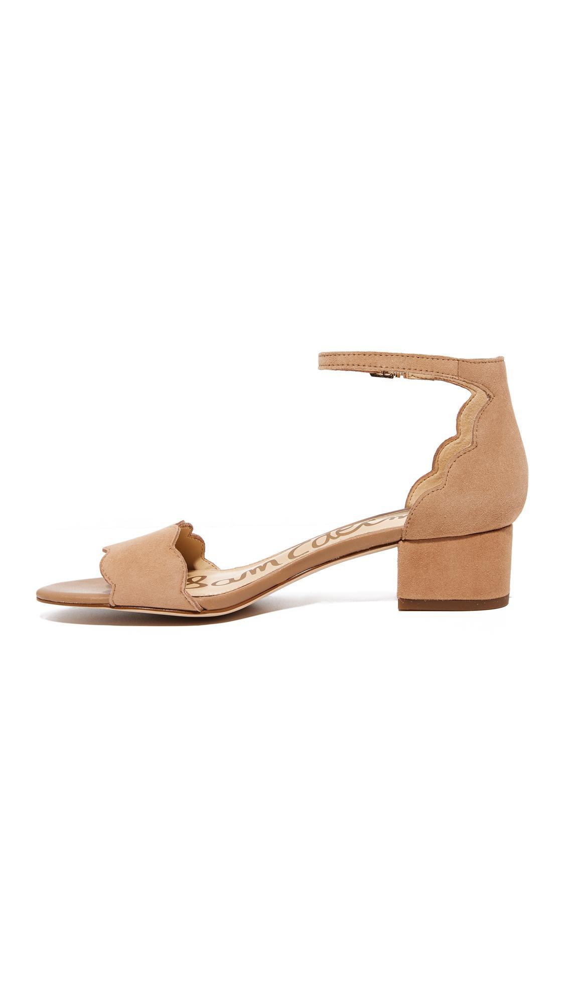 Sam Edelman Suede Inara City Sandals - Lyst